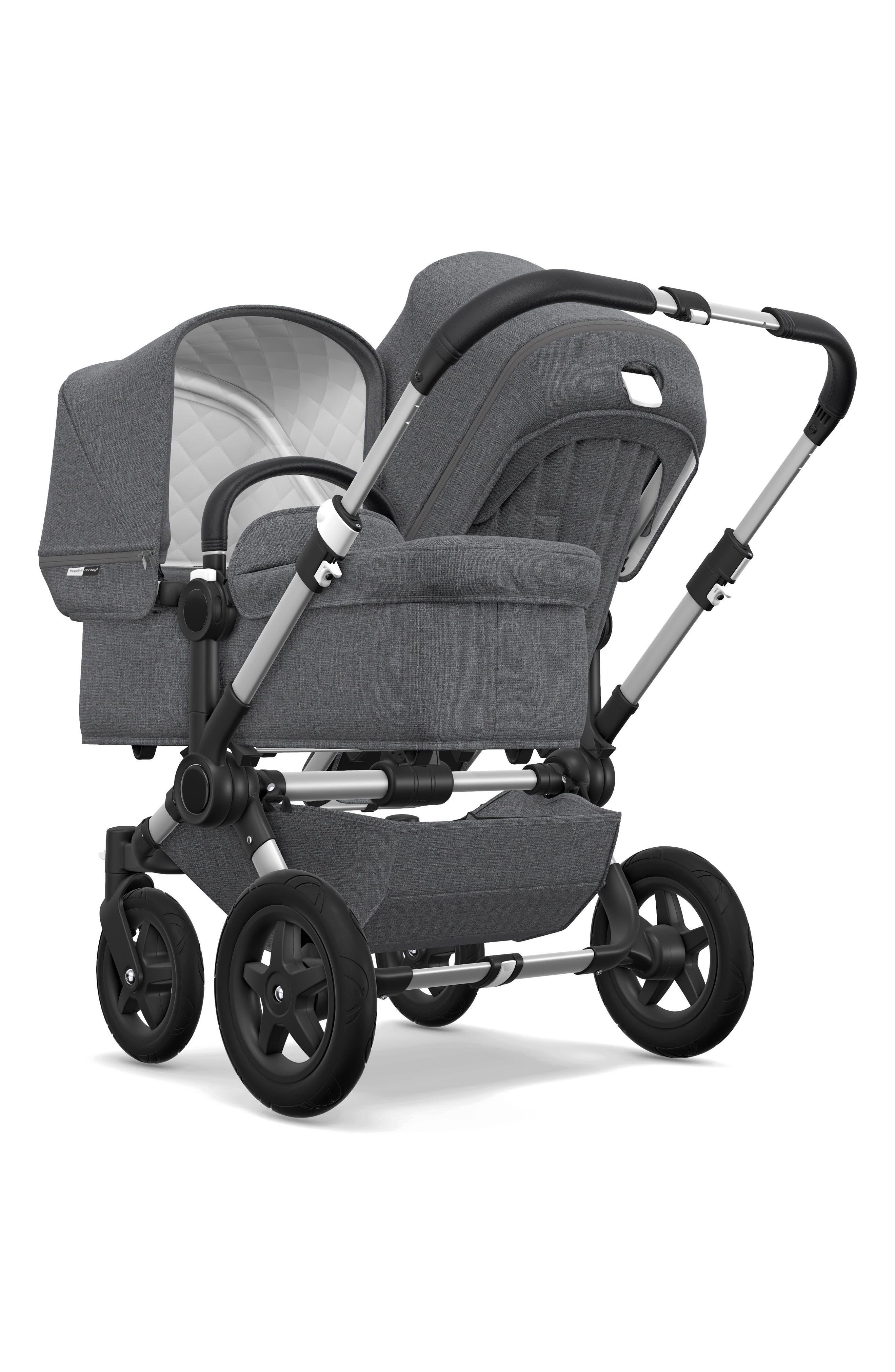 BUGABOO,                             Frame Seat Extension for Donkey2 Stroller,                             Alternate thumbnail 3, color,                             GREY MELANGE/ ALUMINUM