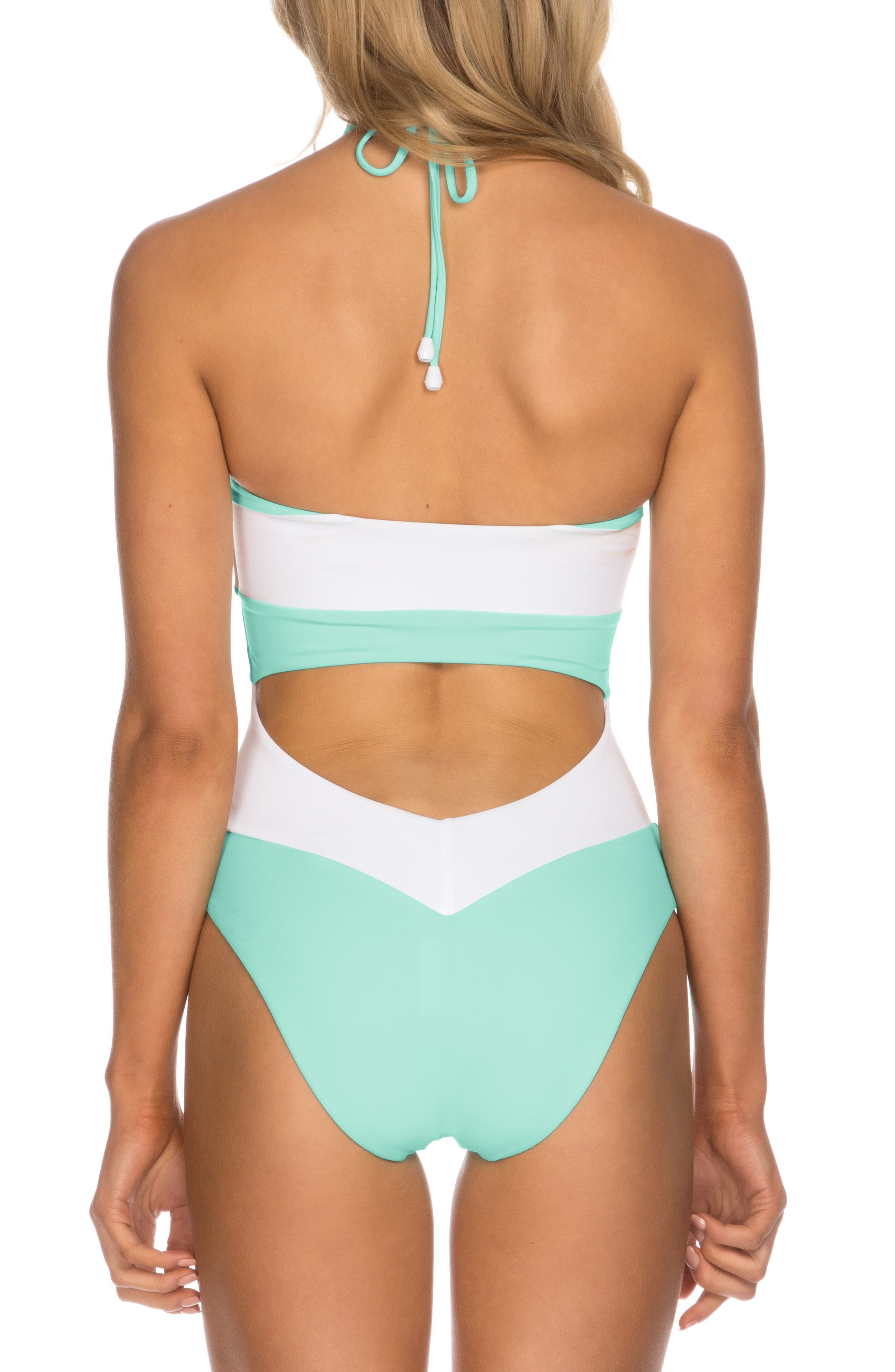 ISABELLA ROSE,                             Block Party One-Piece Swimsuit,                             Alternate thumbnail 2, color,                             BISCAYNE BLUE
