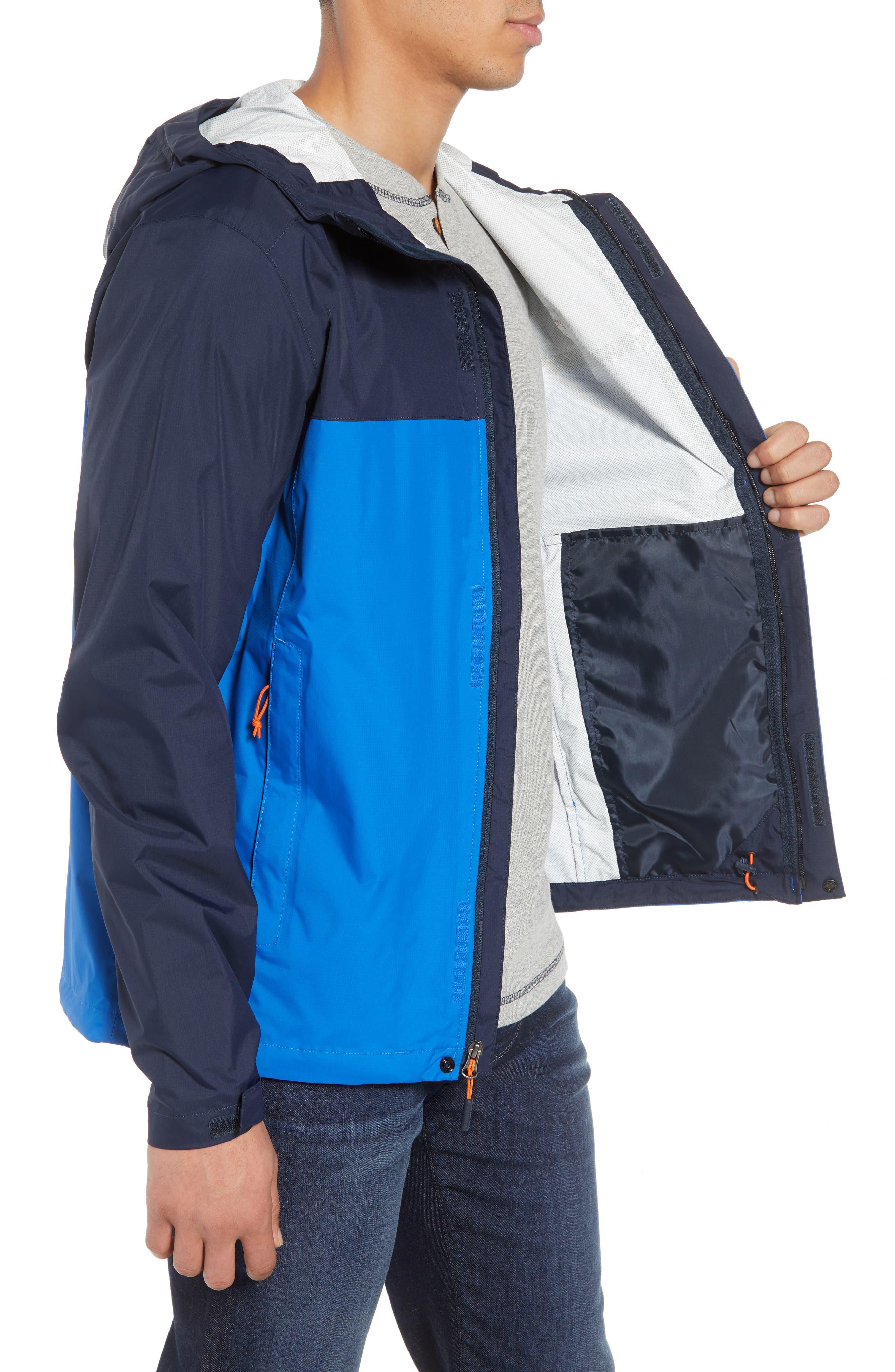 Venture II Raincoat,                             Alternate thumbnail 3, color,                             TURKISH SEA/ NAVY/ ORANGE