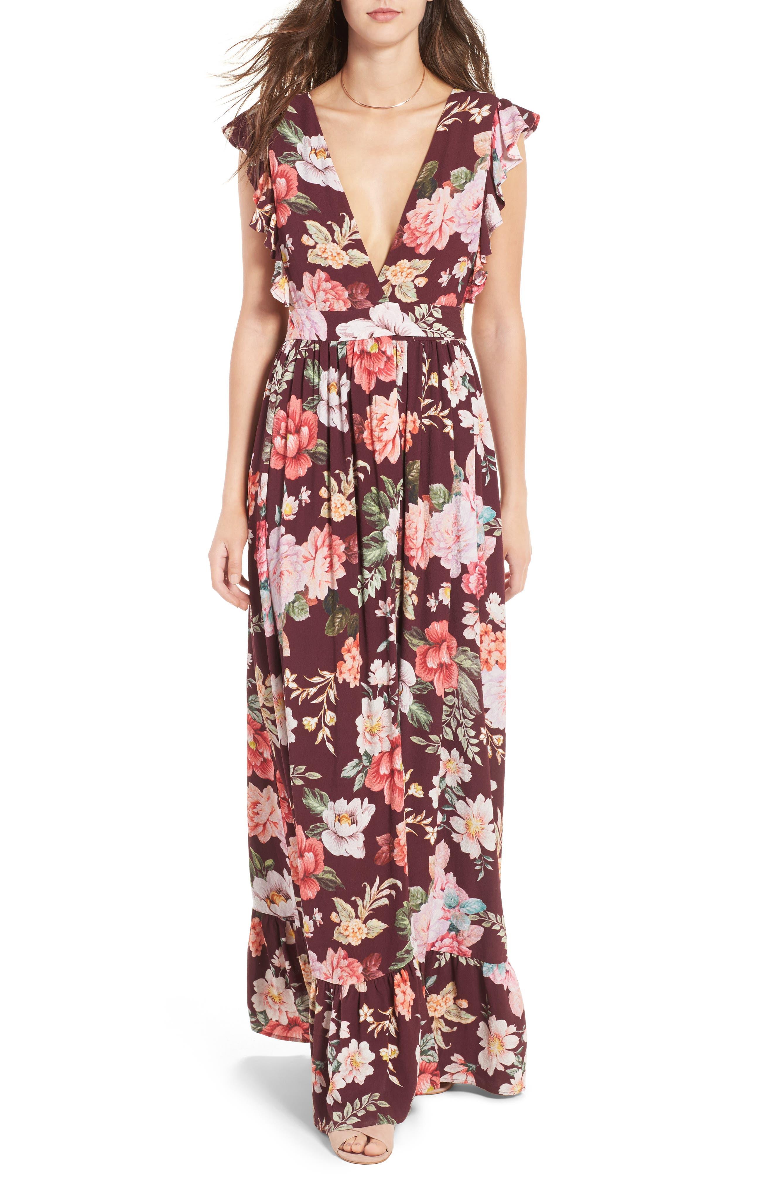 MAJORELLE,                             Sweet Pea Maxi Dress,                             Main thumbnail 1, color,                             003