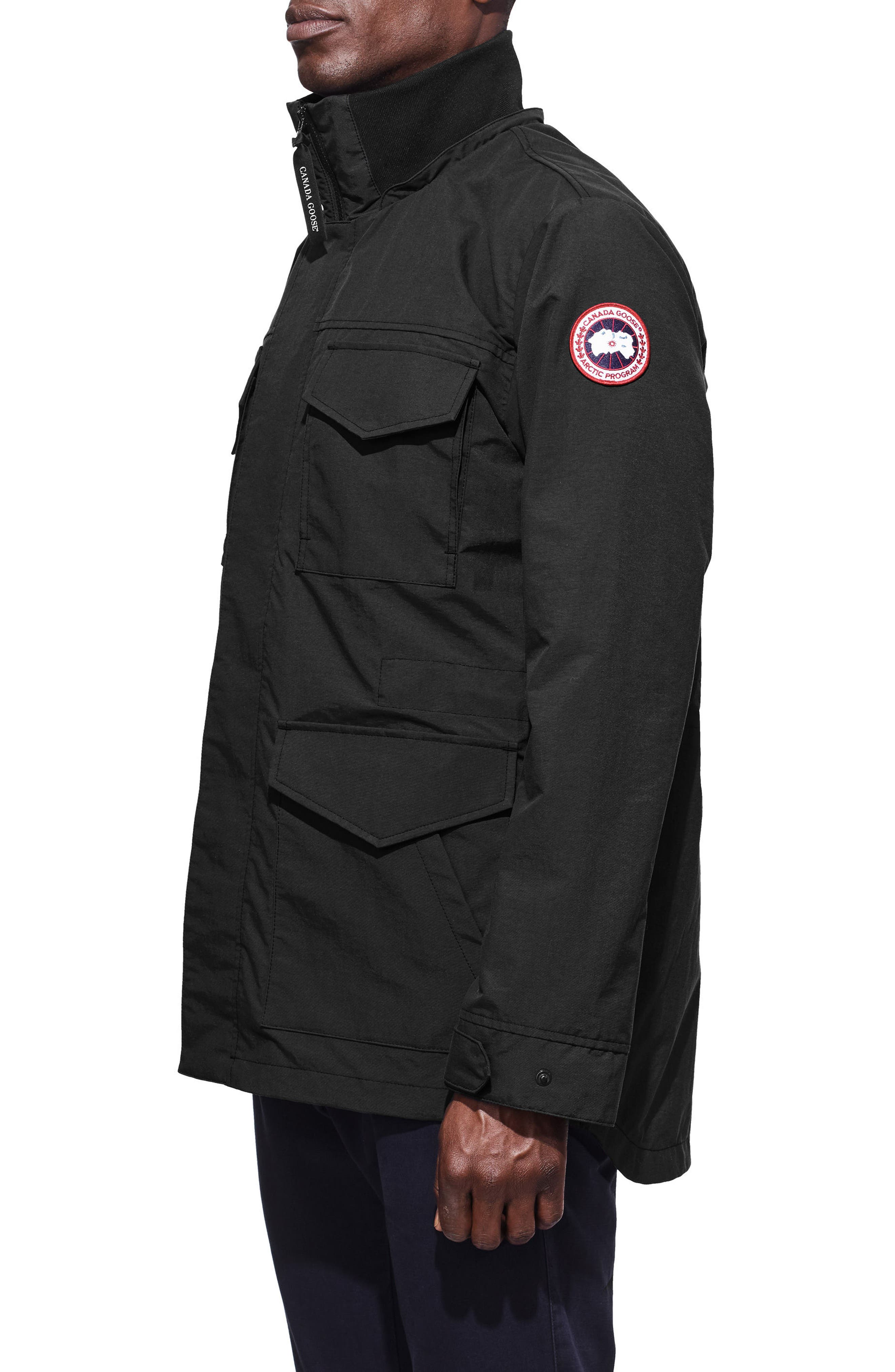 CANADA GOOSE,                             Voyager Jacket,                             Alternate thumbnail 3, color,                             001