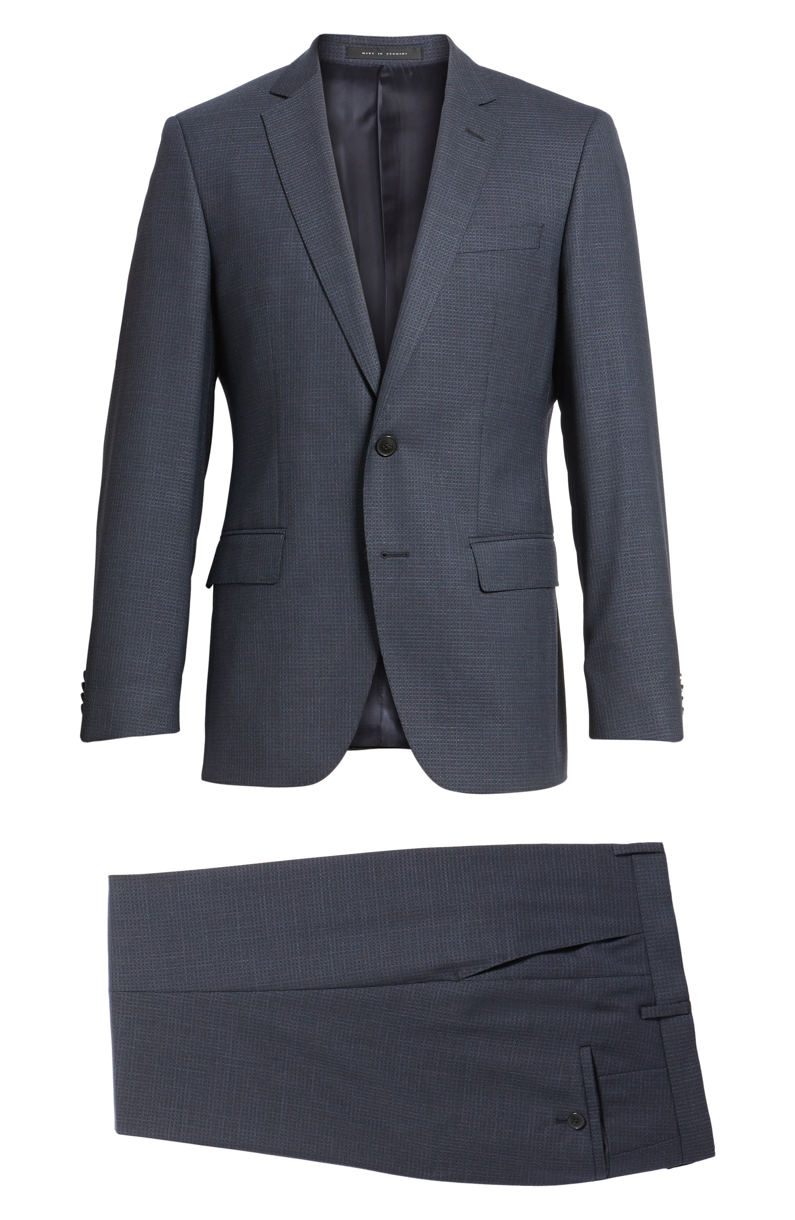 Huge/Genius Trim Fit Check Wool Suit,                             Alternate thumbnail 8, color,                             409