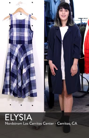 Check Fit & Flare Dress, sales video thumbnail