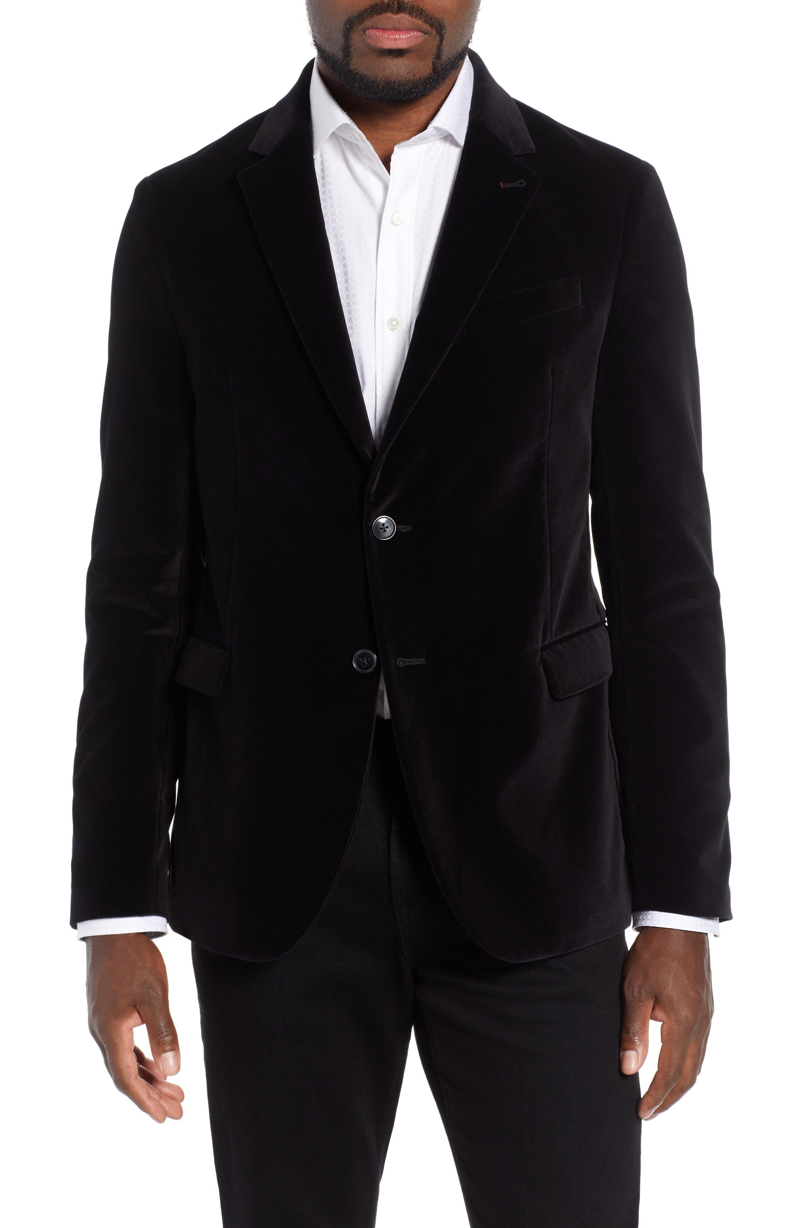 BUGATCHI Velveteen Blazer in Black