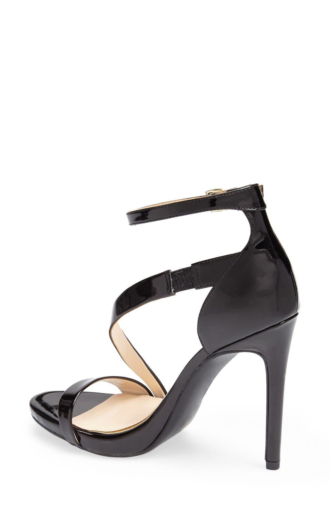 'Rayli' Patent Ankle Strap Sandal,                             Alternate thumbnail 4, color,                             001