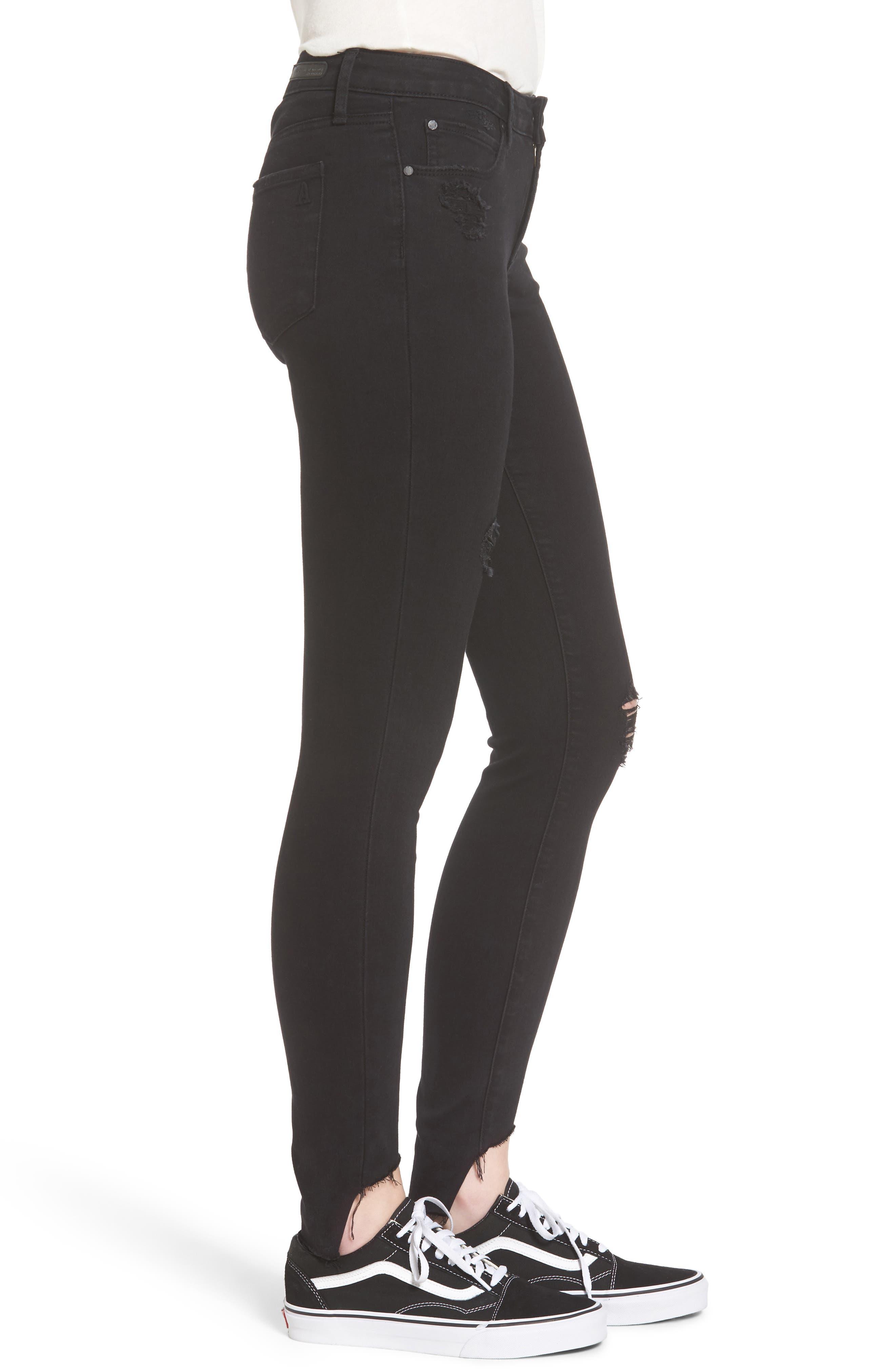 Stephanie Step Hem Skinny Jeans,                             Alternate thumbnail 3, color,