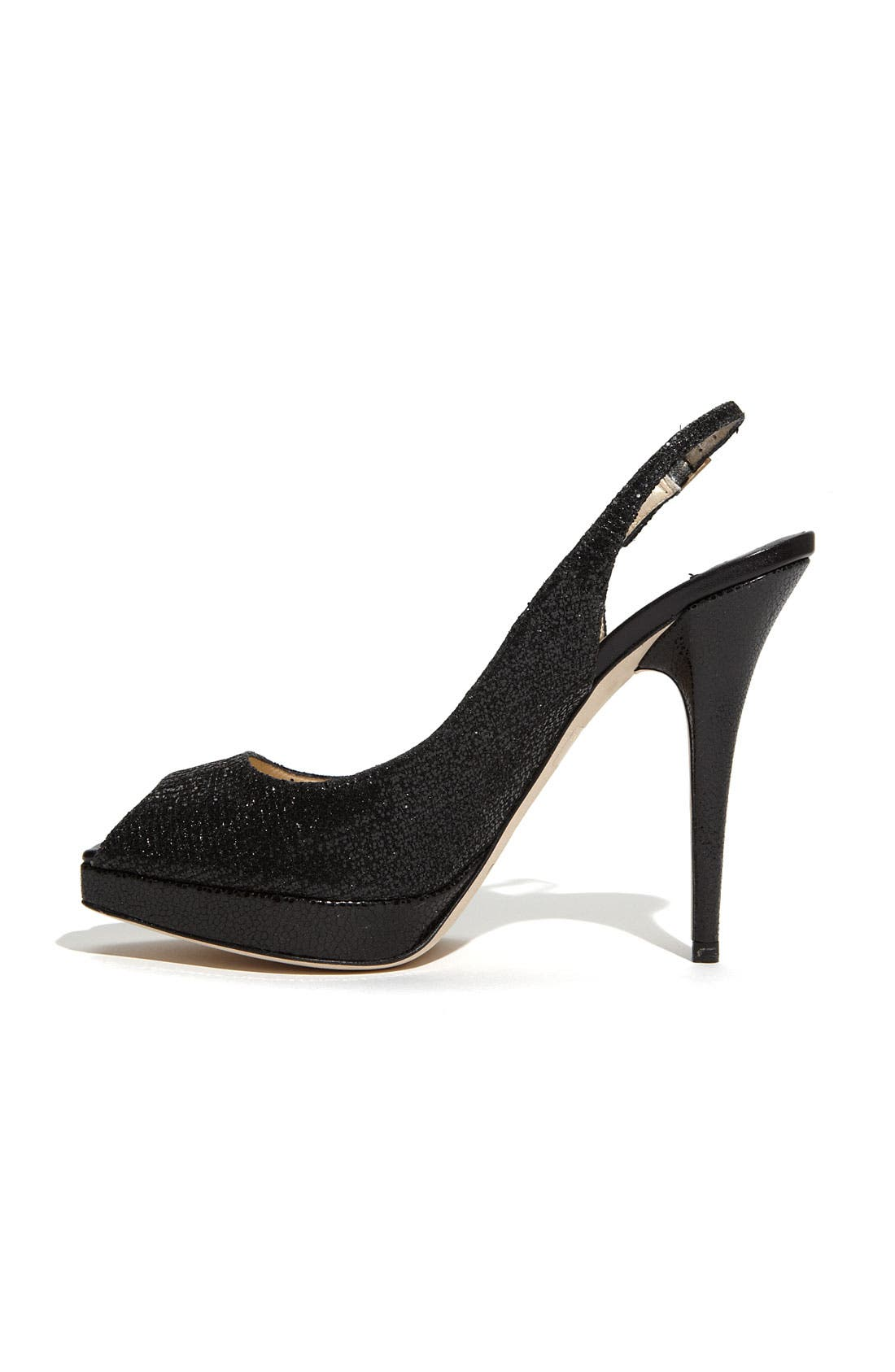 'Clue' Glitter Slingback Pump,                             Alternate thumbnail 2, color,                             001