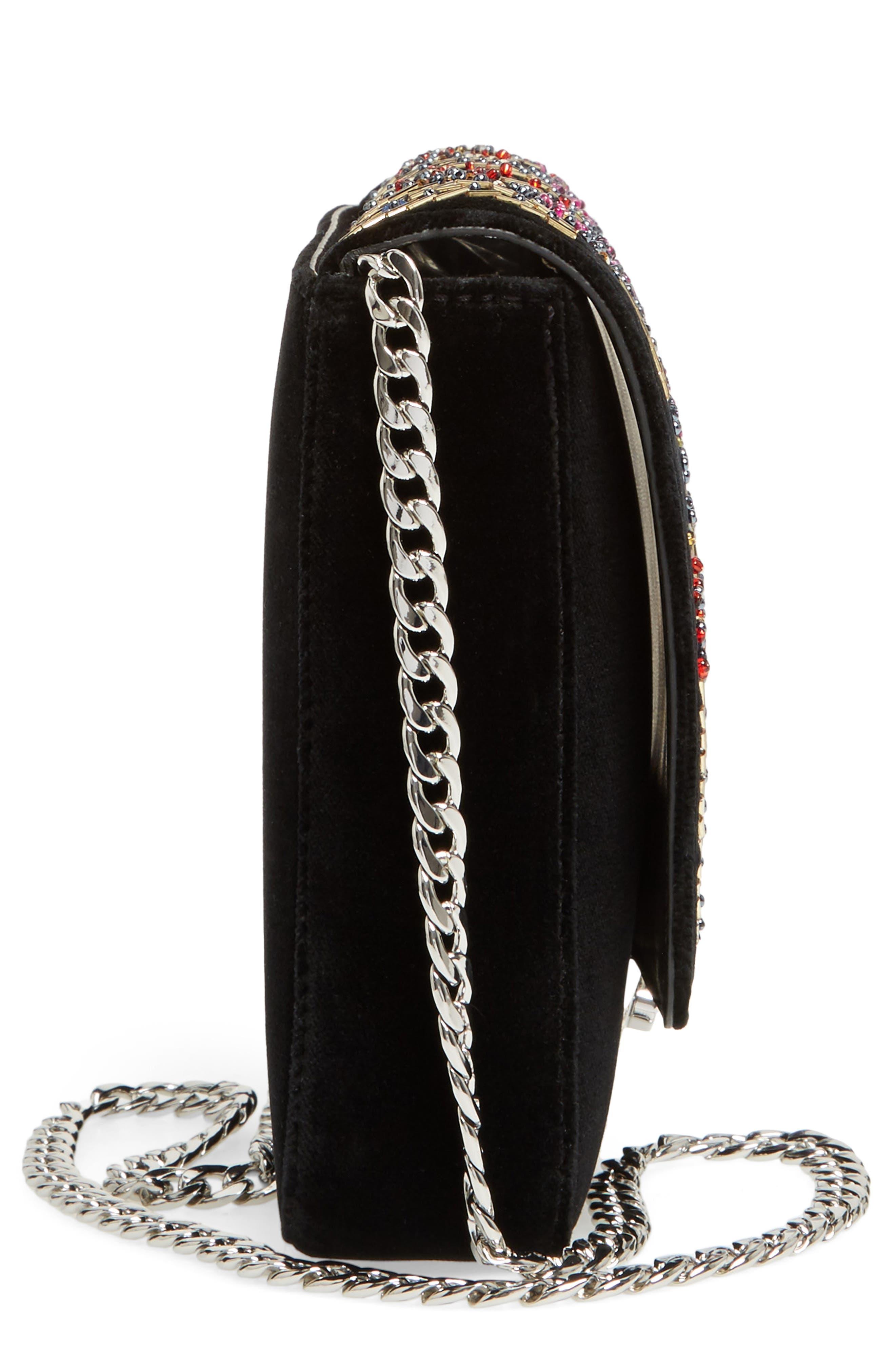 Loeffler Randal Lock Sequin Shoulder Bag,                             Alternate thumbnail 5, color,
