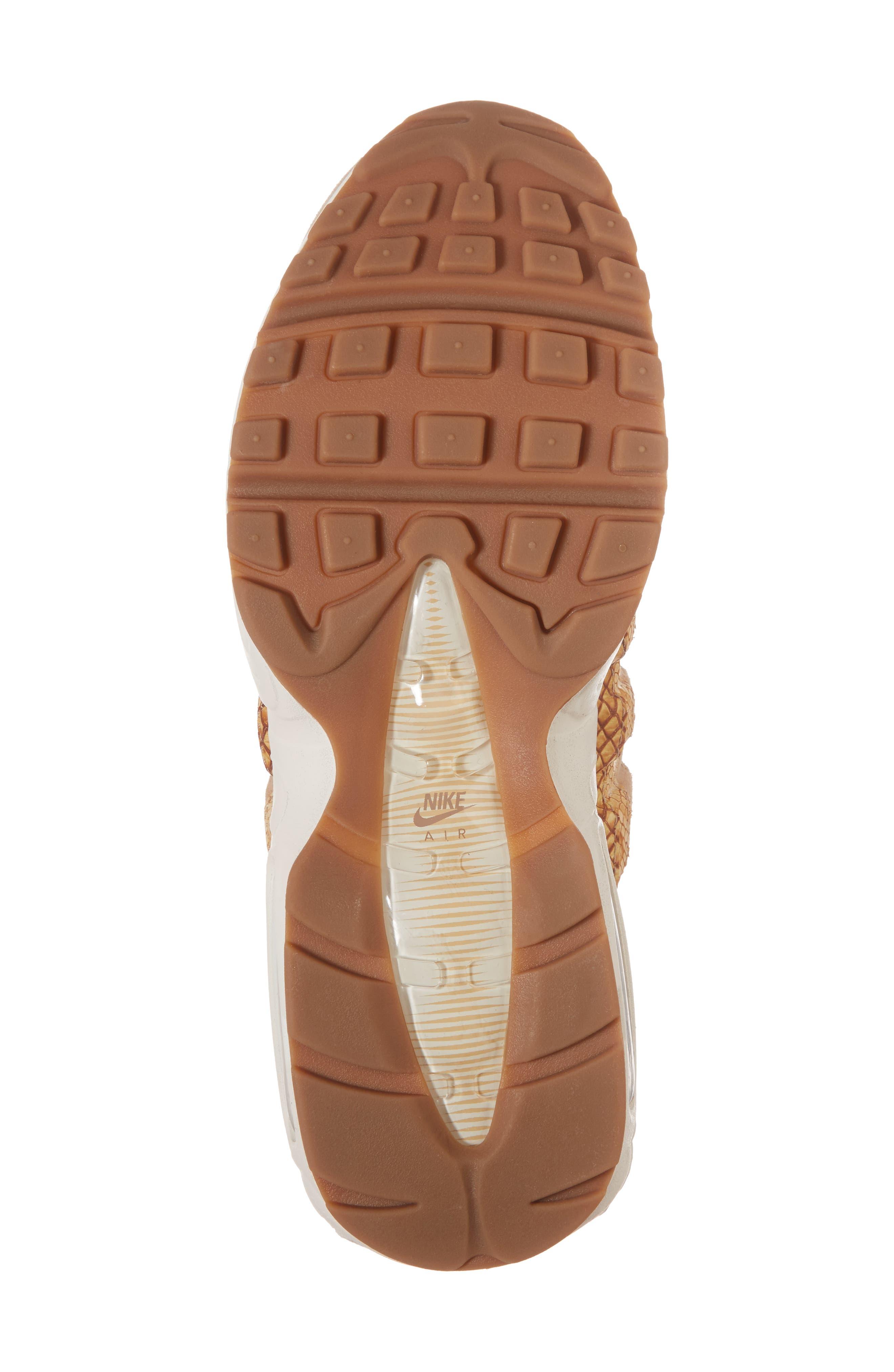 Air Max 95 Premium SE Sneaker,                             Alternate thumbnail 6, color,                             TAN/ TAN/ ELEMENTAL GOLD