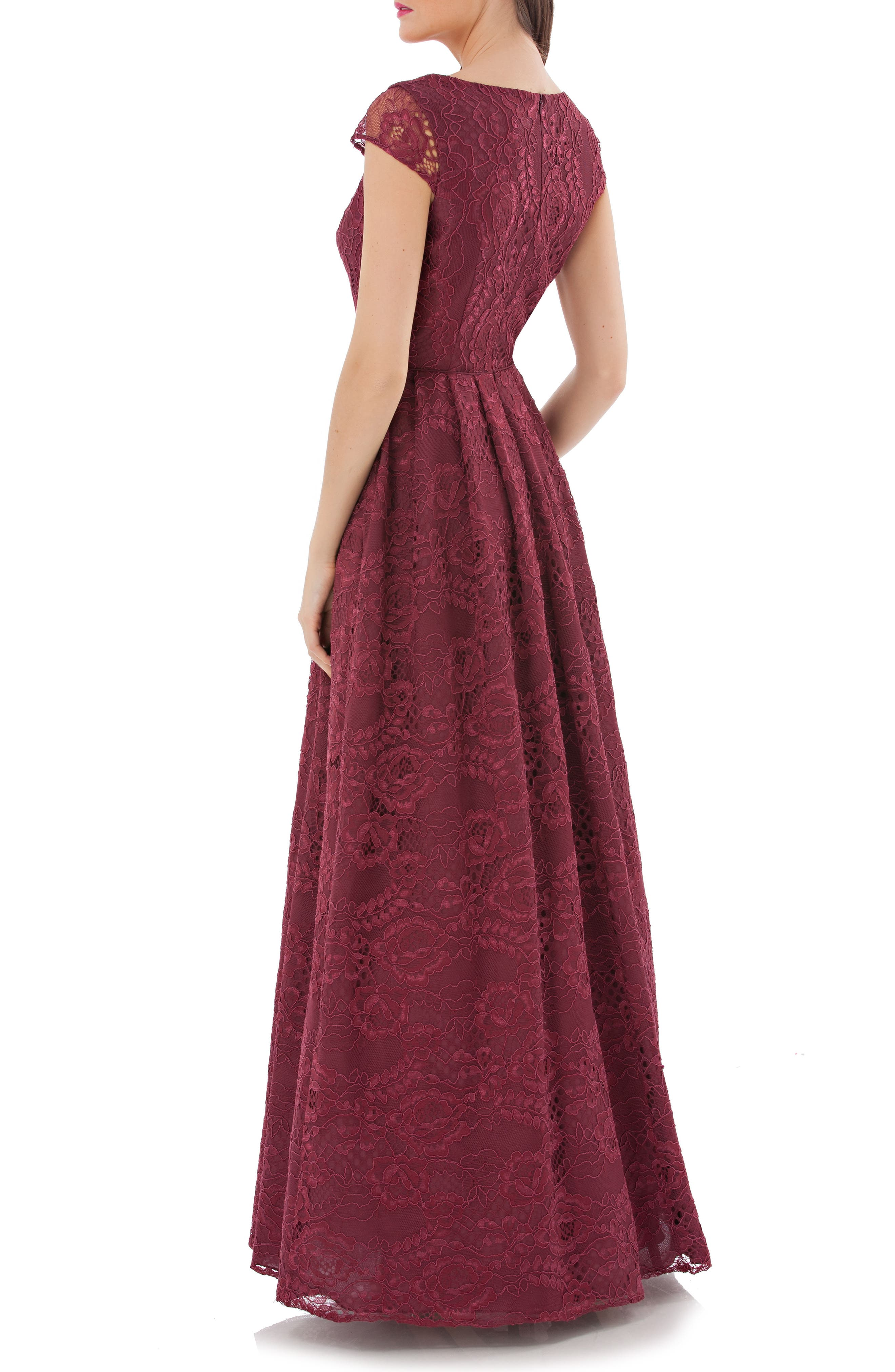 Embroidered Lace Ballgown,                             Alternate thumbnail 2, color,
