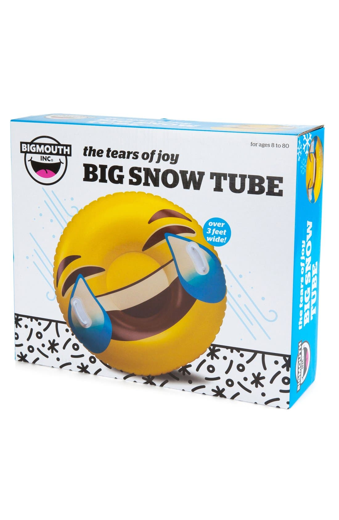 Giant Tears of Joy Emoji Snow Tube,                             Alternate thumbnail 3, color,                             750