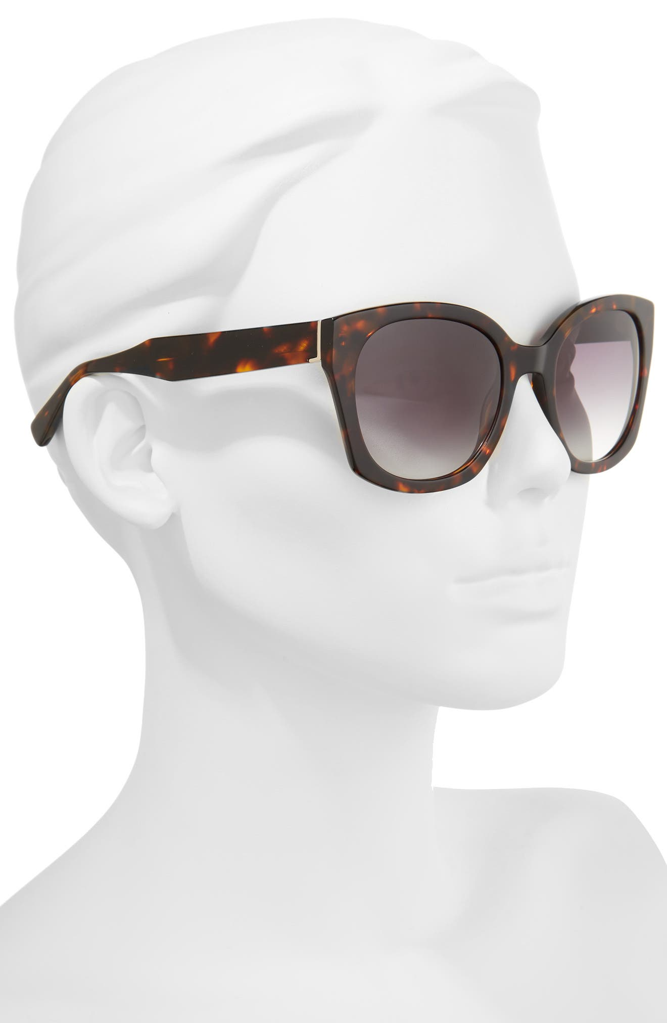 Sadie 54mm Sunglasses,                             Alternate thumbnail 2, color,                             HAVANA TORTOISE