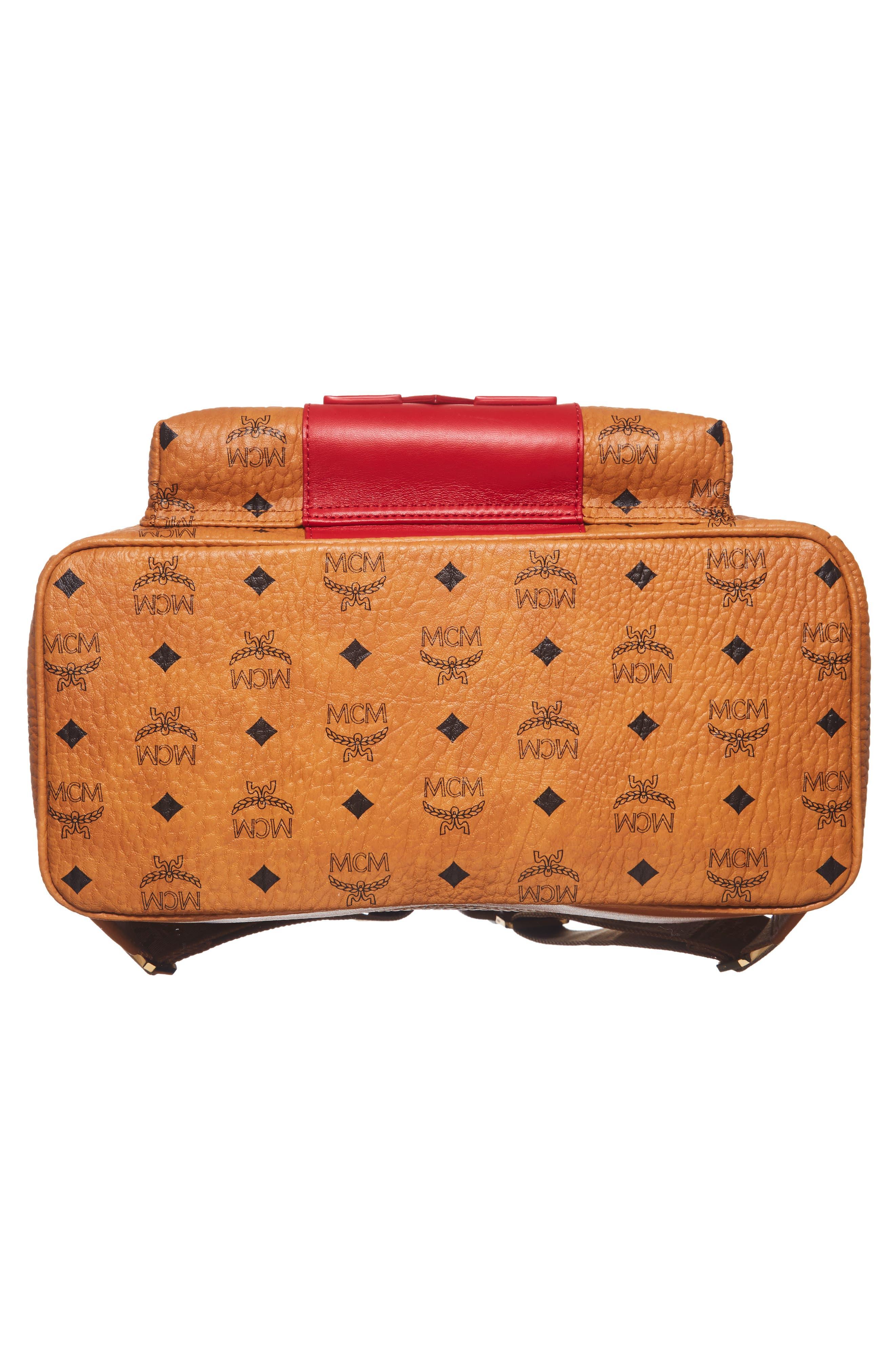 Stark Stripe Faux Leather Backpack,                             Alternate thumbnail 6, color,                             210