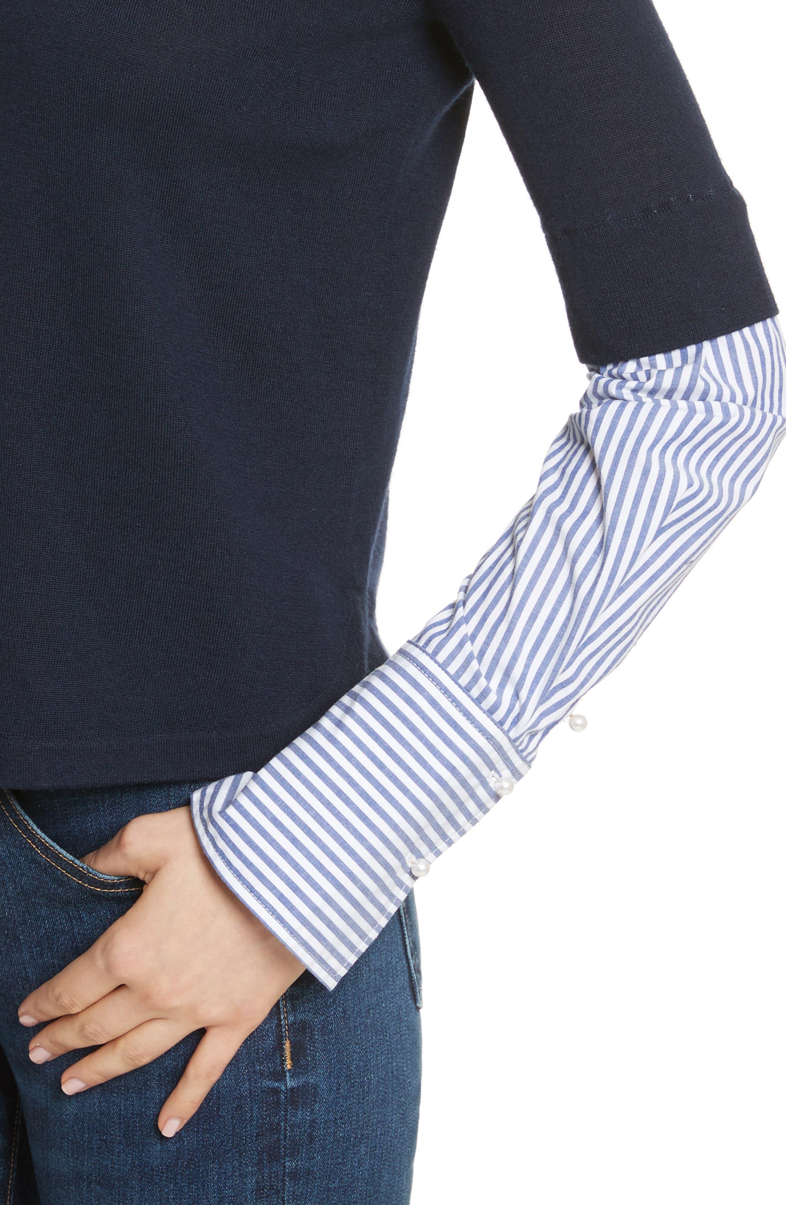 Roscoe Mixed Media Sweater,                             Alternate thumbnail 4, color,                             410