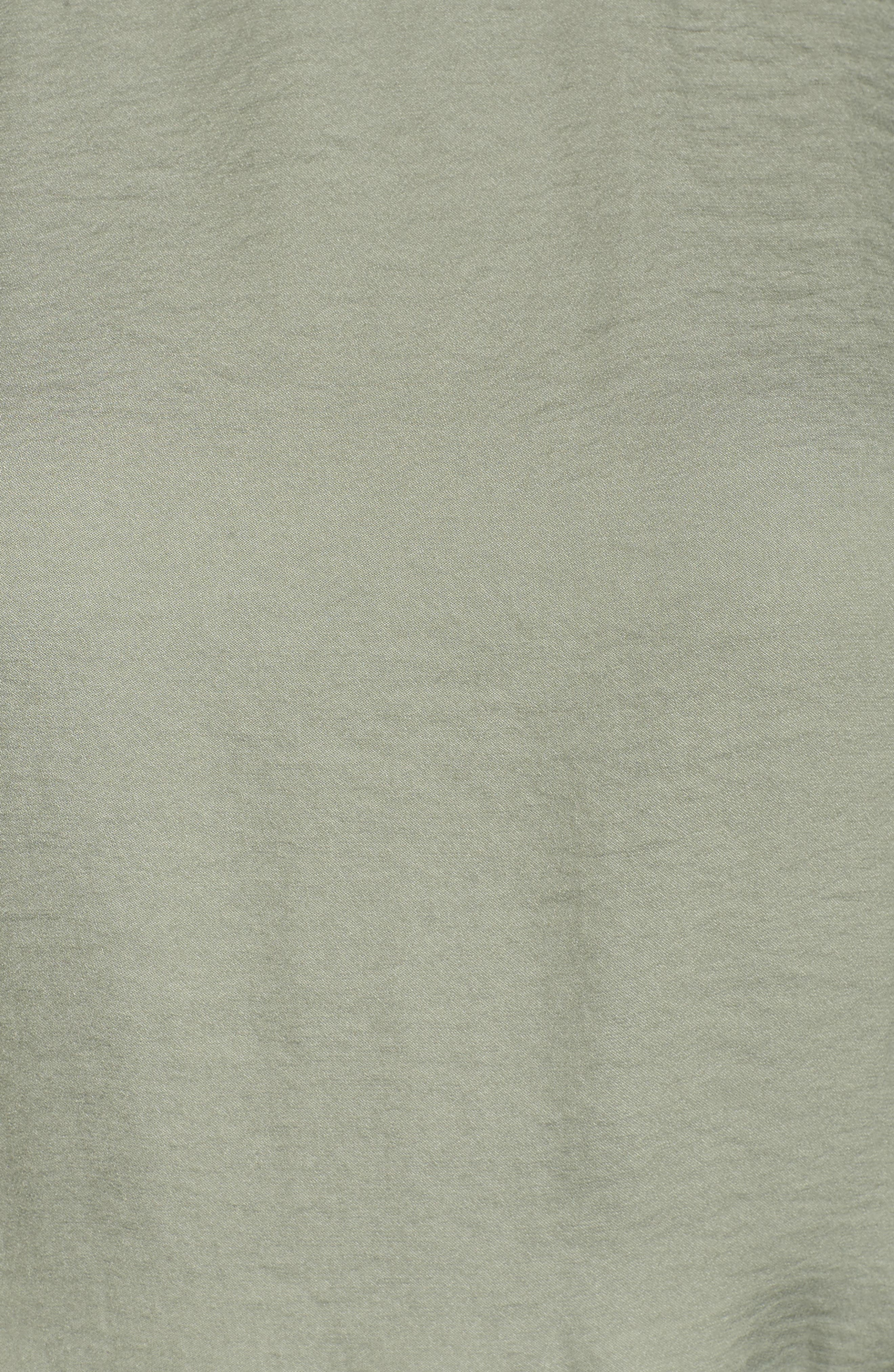 Cold Shoulder Rumpled Satin Dress,                             Alternate thumbnail 6, color,                             304