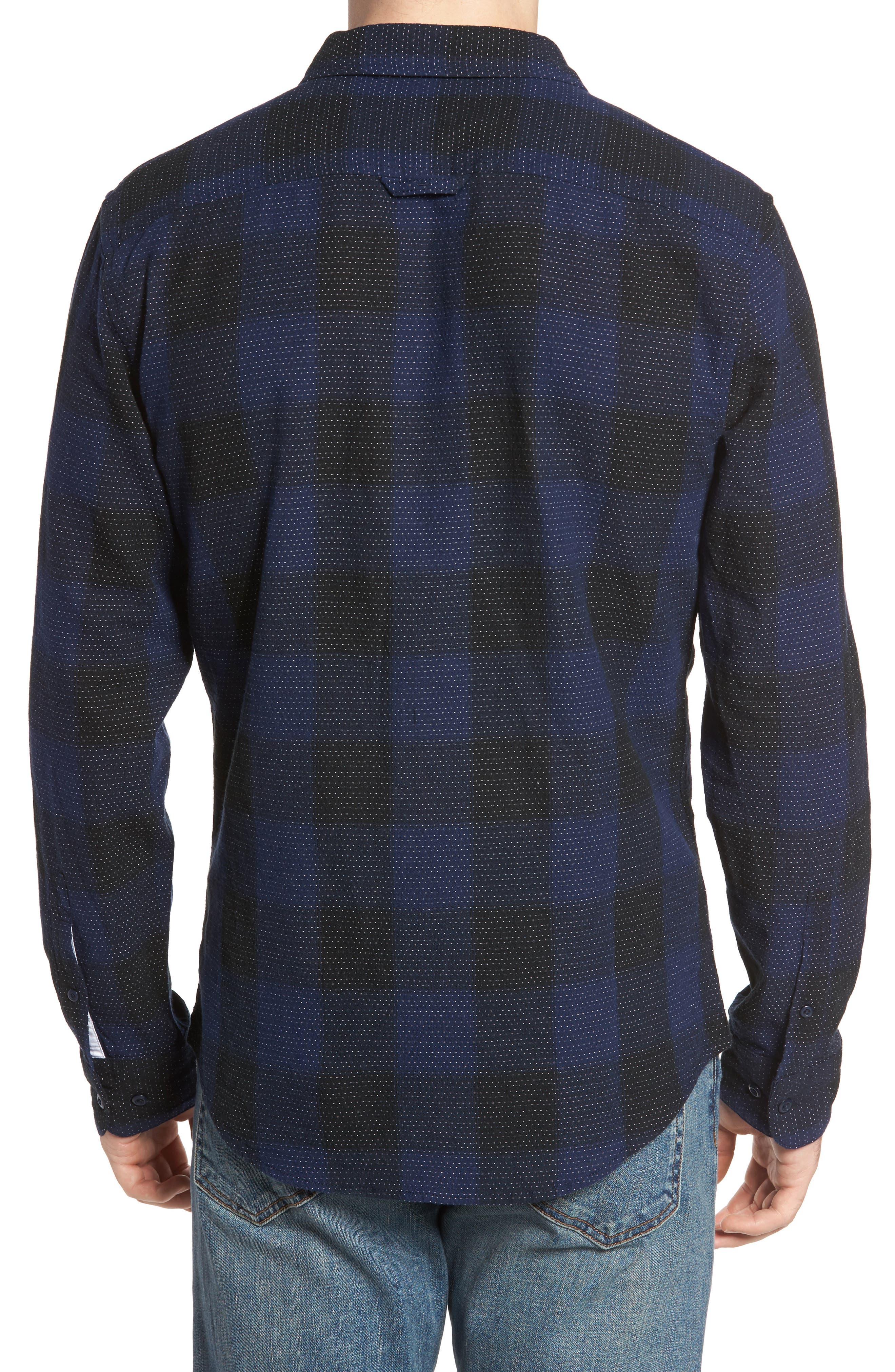 Dot Buffalo Plaid Shirt,                             Alternate thumbnail 2, color,