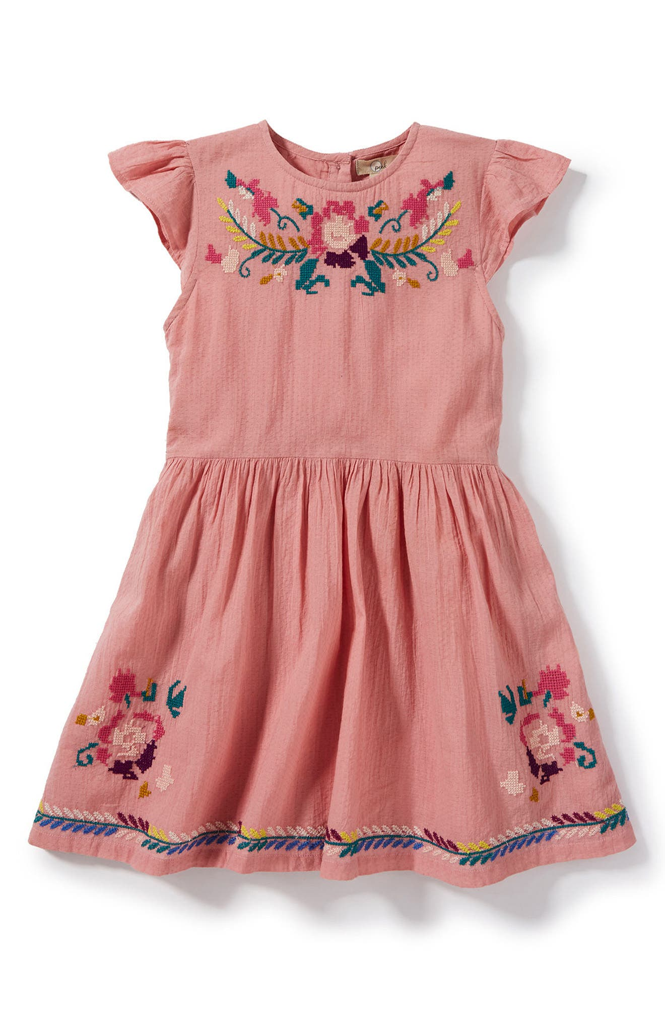 Delilah Embroidered Dress,                             Main thumbnail 1, color,                             532