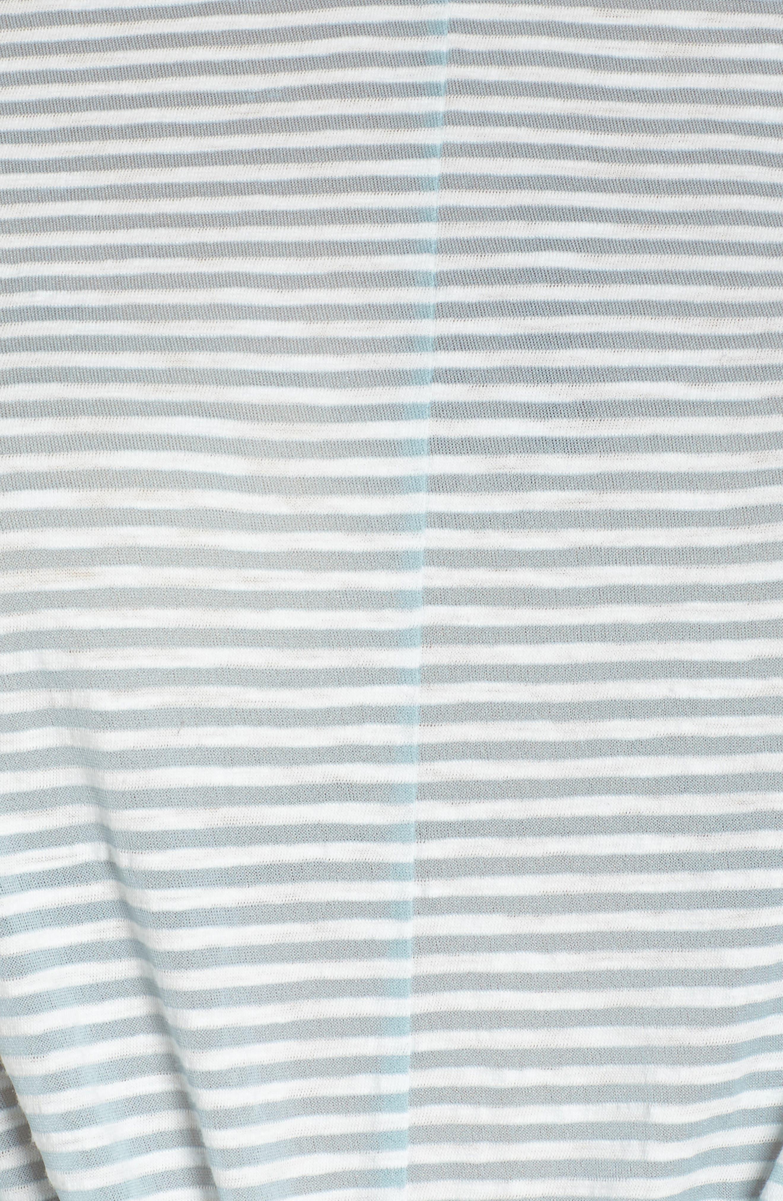 Shadow Stripe Tie Hem Tee,                             Alternate thumbnail 6, color,
