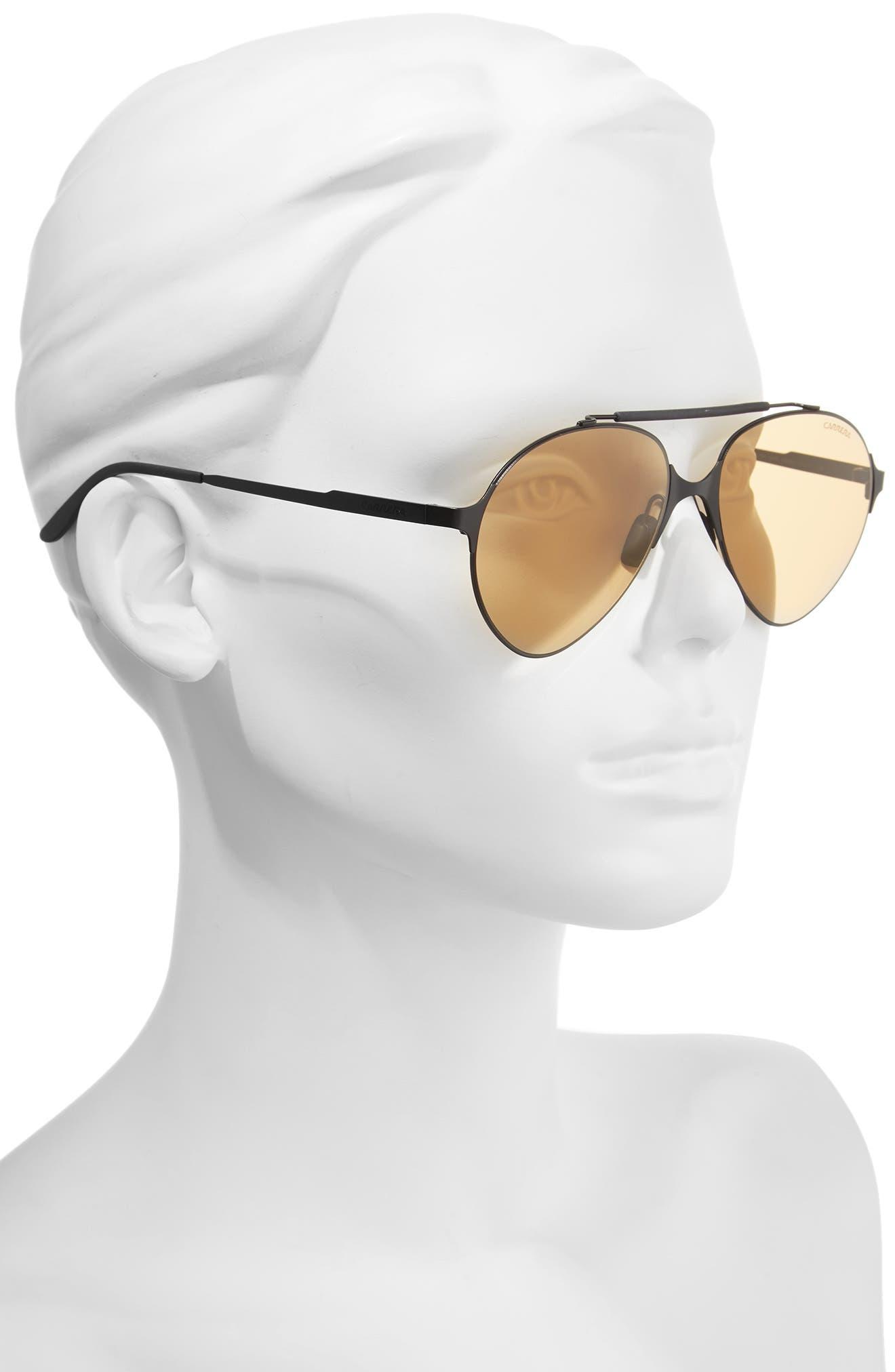 Carrera 58mm Gradient Pilot Sunglasses,                             Alternate thumbnail 2, color,                             001