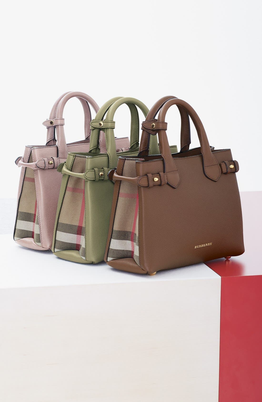 'Small Banner' Leather Tote,                             Alternate thumbnail 22, color,