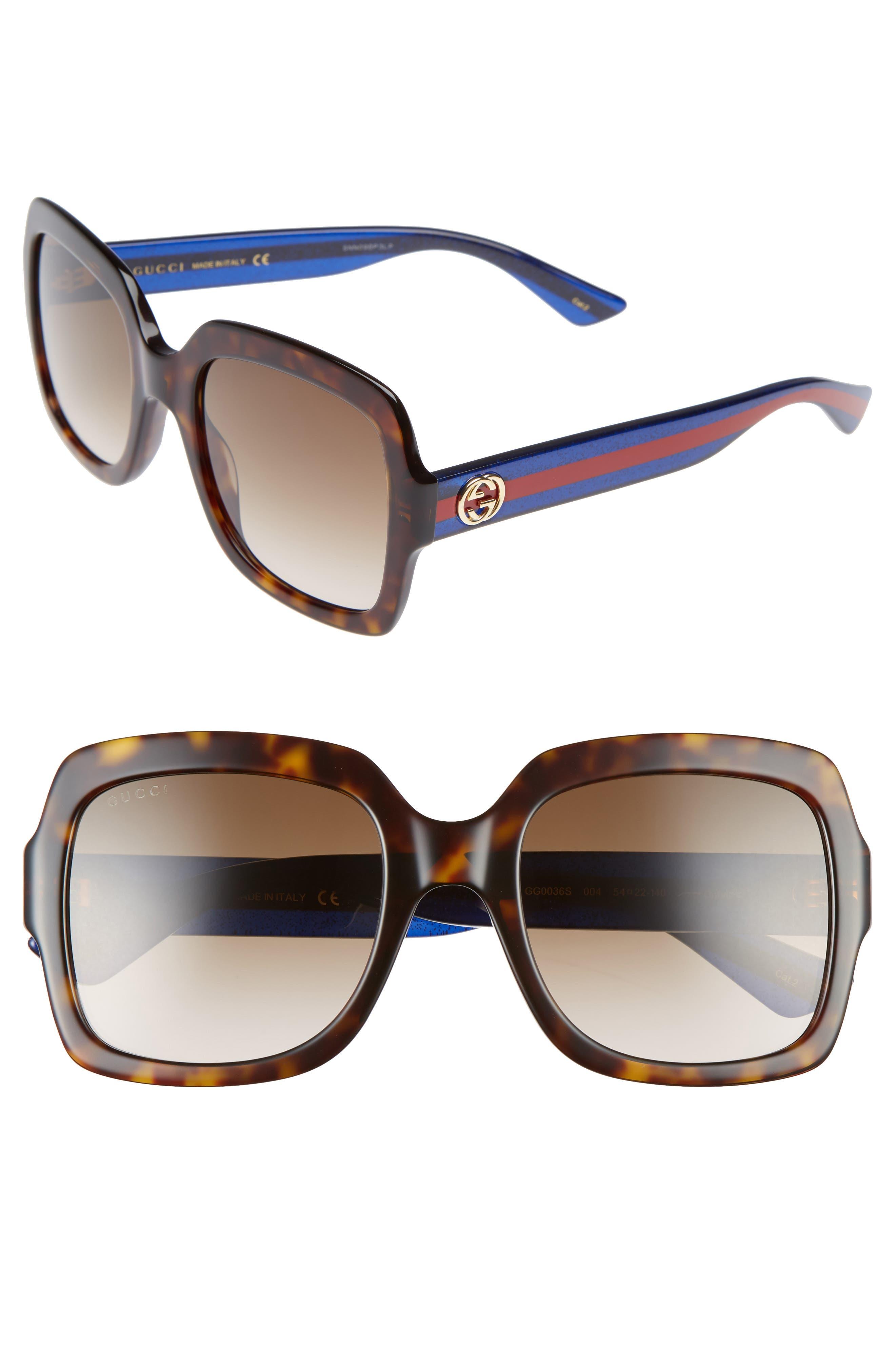 GUCCI,                             54mm Square Sunglasses,                             Main thumbnail 1, color,                             200