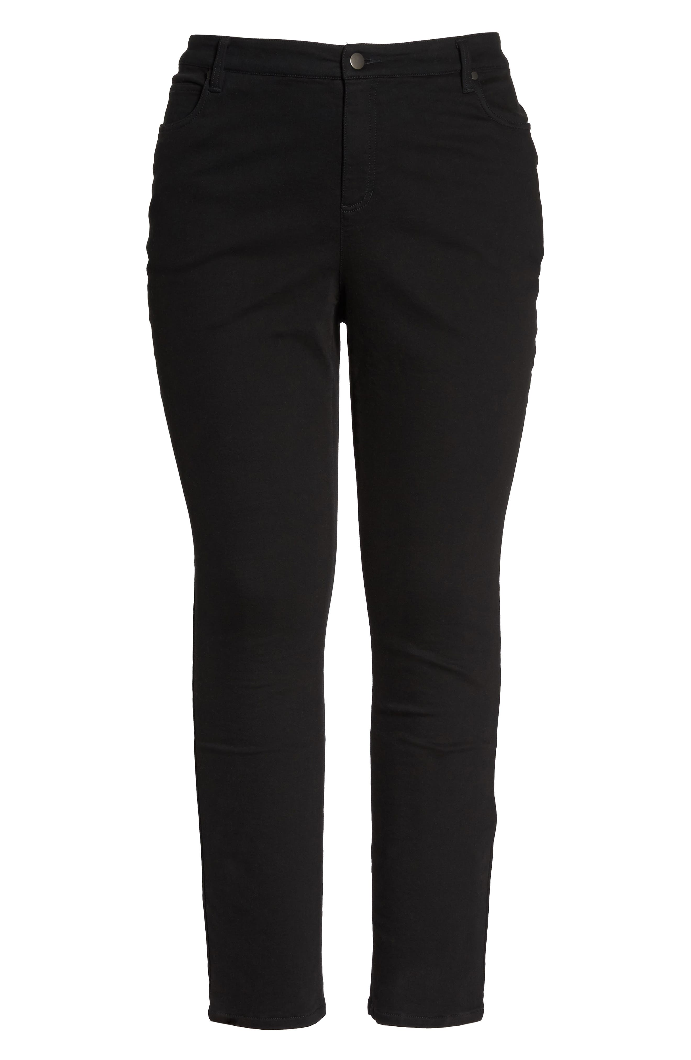 Organic Cotton Skinny Stretch Jeans,                             Alternate thumbnail 6, color,                             001