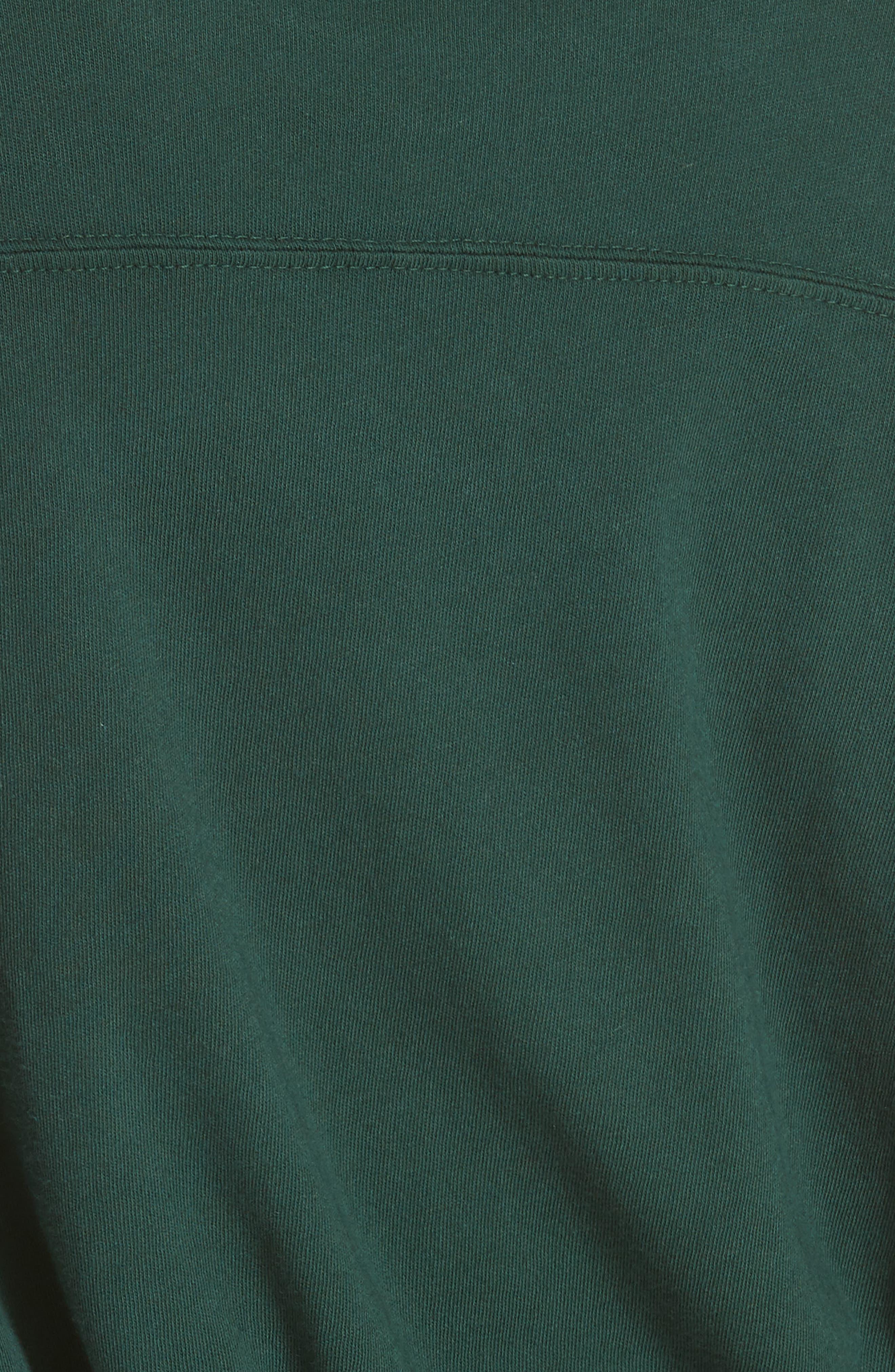 The Curve Cotton Tee,                             Alternate thumbnail 5, color,                             EMERALD
