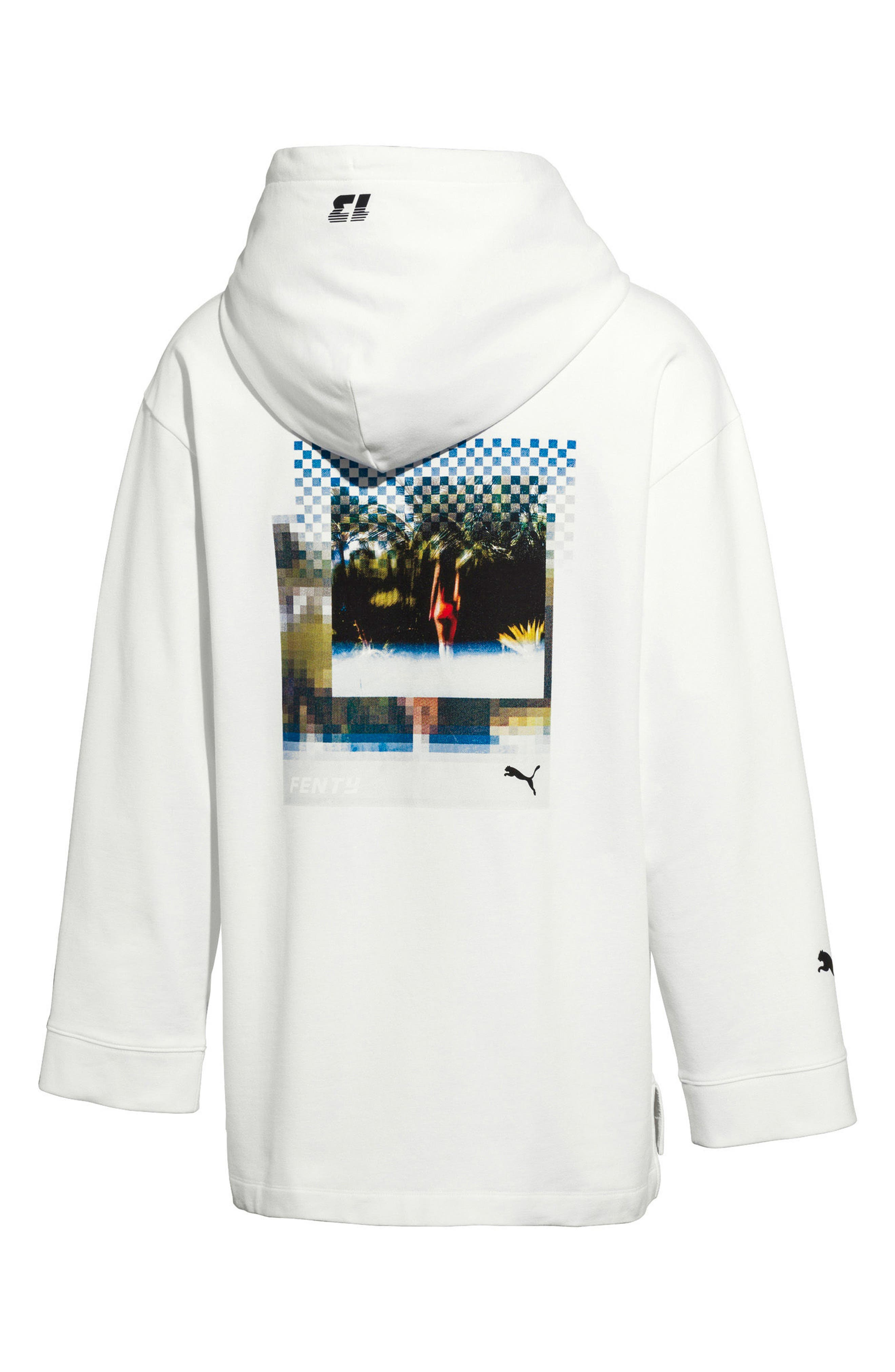 PUMA by Rihanna Graphic Hoodie,                             Alternate thumbnail 2, color,                             100