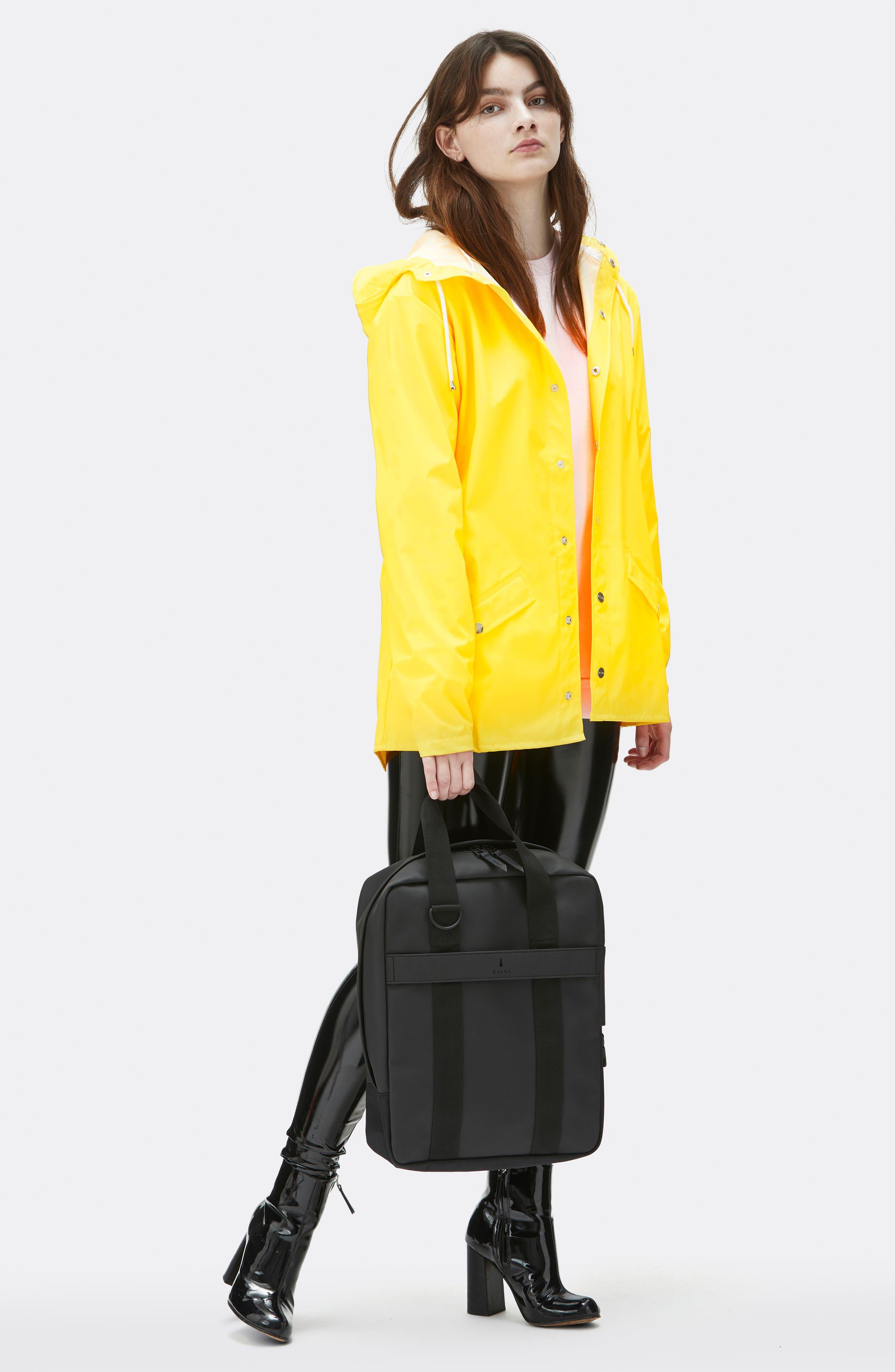 Waterproof Utility Tote Bag,                             Alternate thumbnail 8, color,                             BLACK