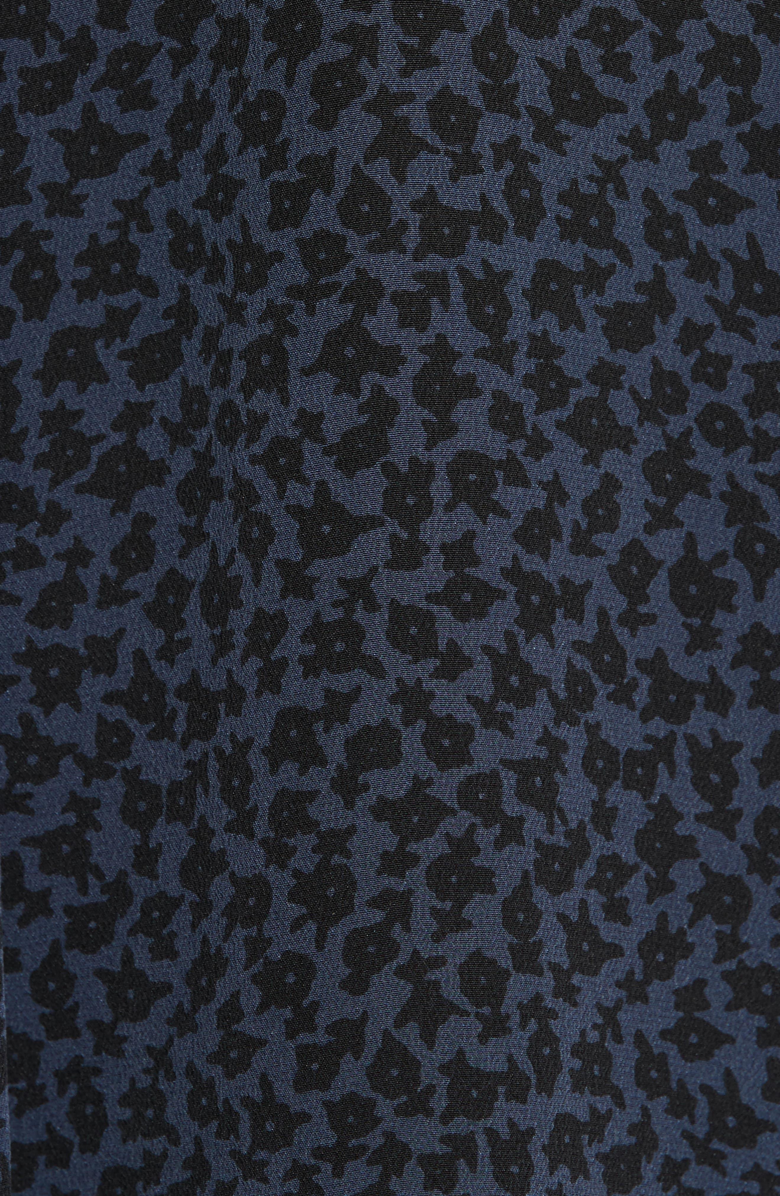Condence Silk Shift Dress,                             Alternate thumbnail 5, color,                             466