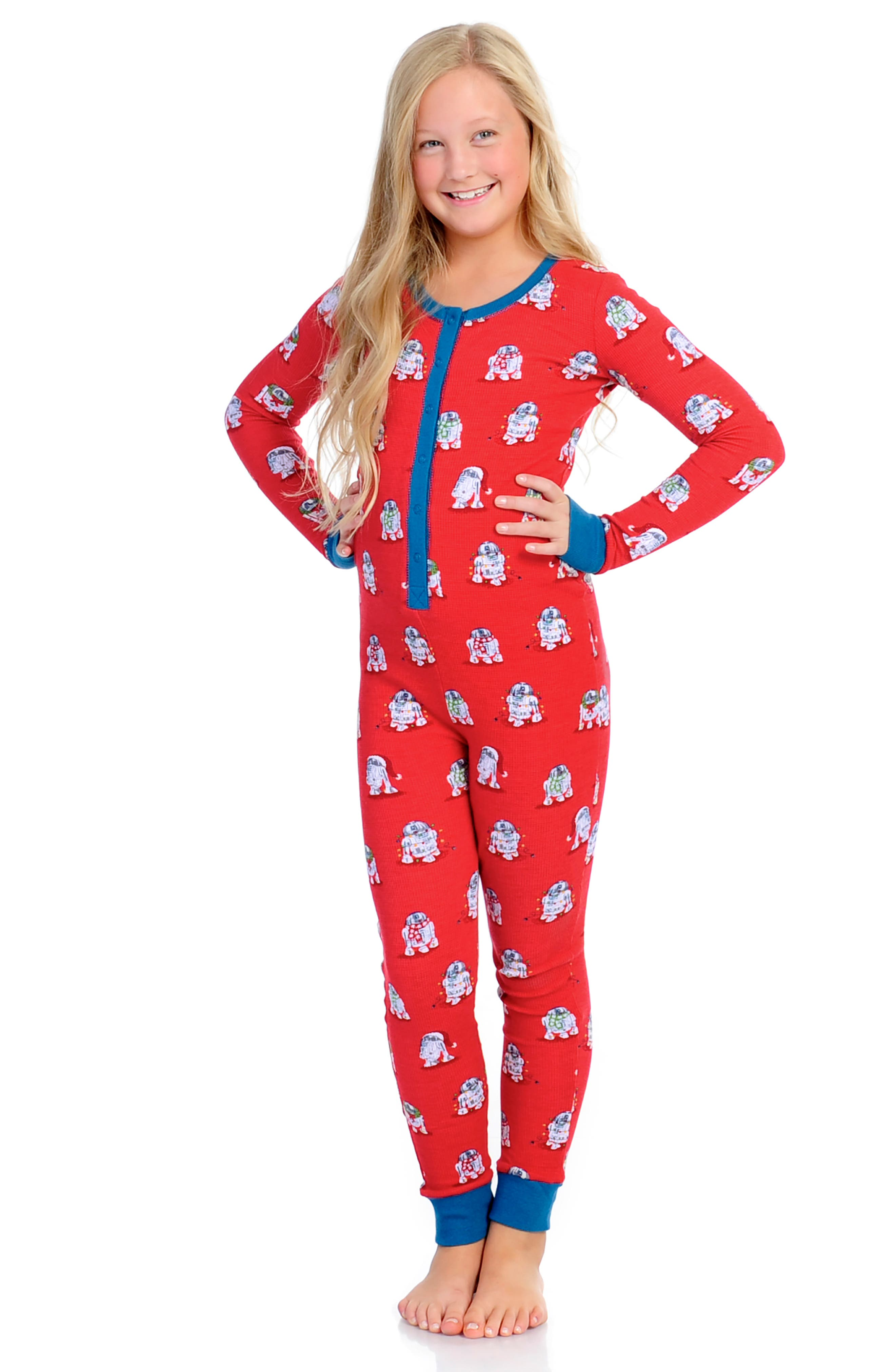 x Star Wars<sup>™</sup> Christmas R2-D2 Fitted One-Piece Pajamas,                             Alternate thumbnail 3, color,                             600
