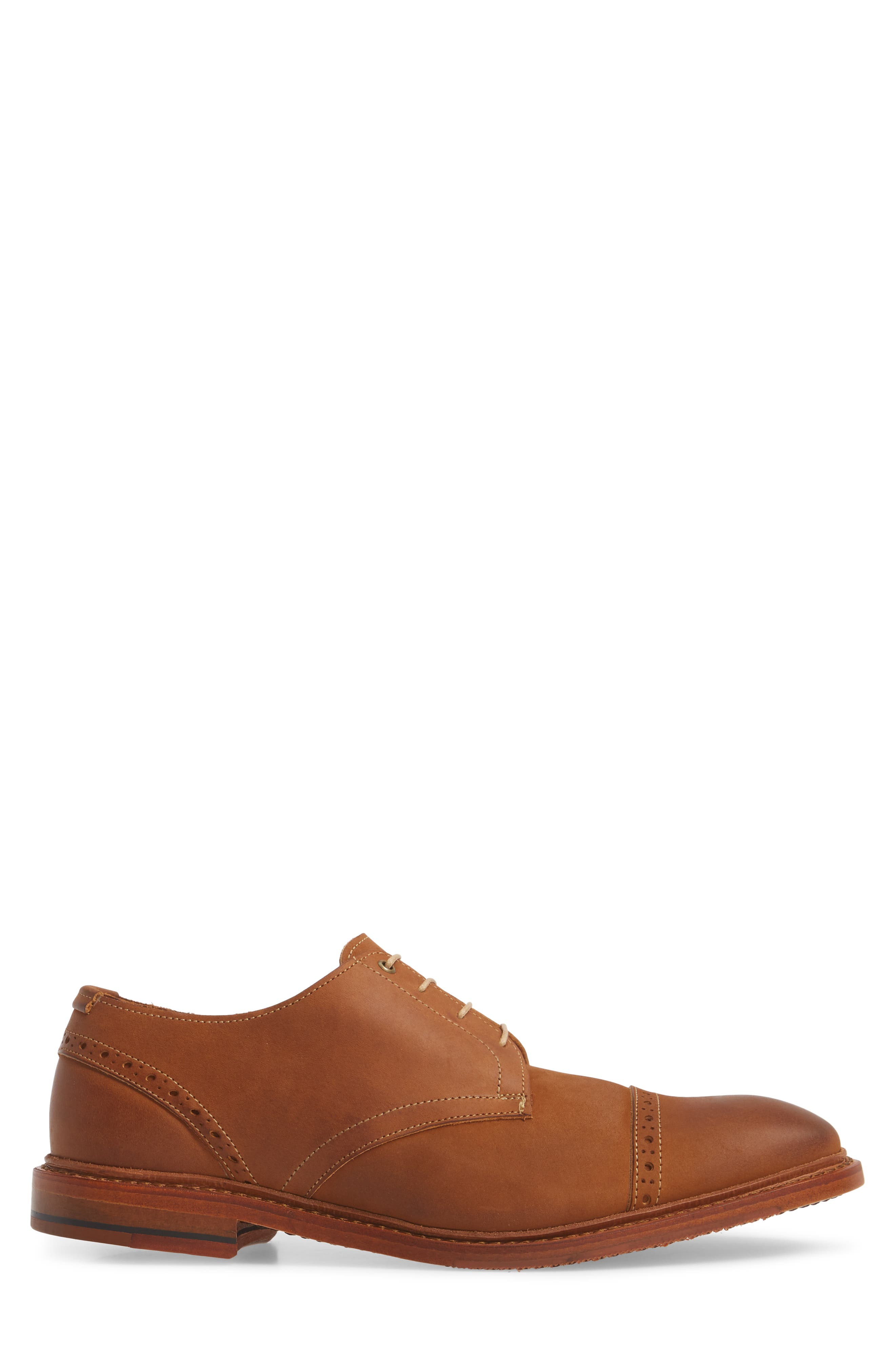 Kitsap Cap Toe Derby,                             Alternate thumbnail 3, color,                             TAN LEATHER