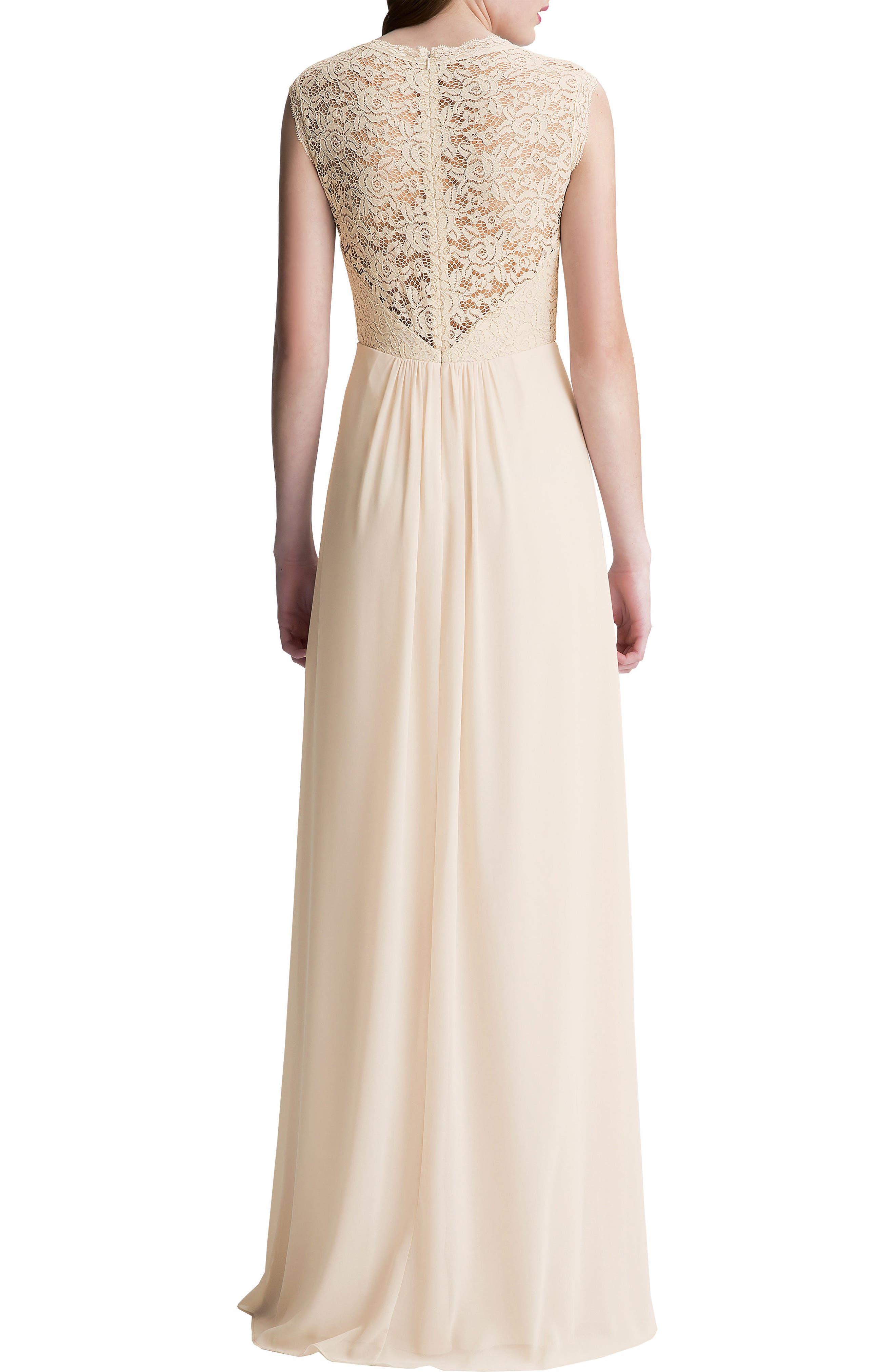 Lace Bodice A-Line Gown,                             Alternate thumbnail 3, color,