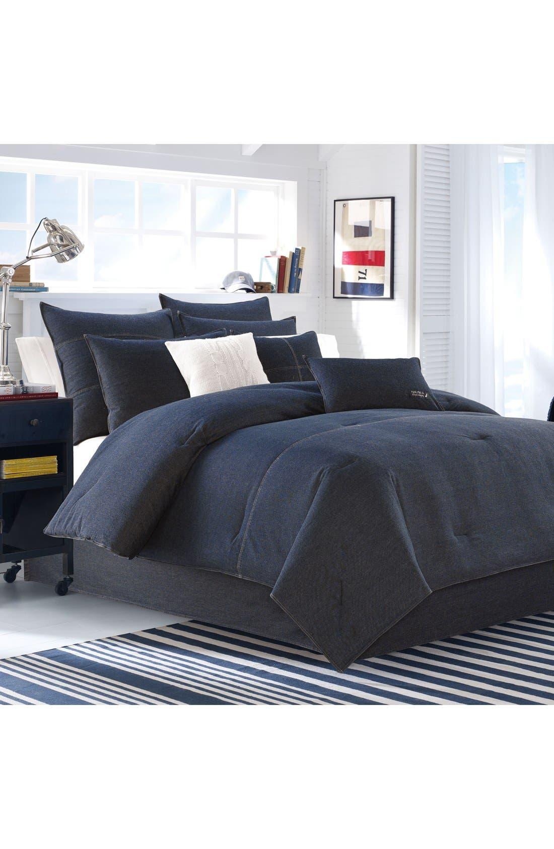 Seaward Comforter & Sham Set,                             Alternate thumbnail 2, color,                             DENIM BLUE