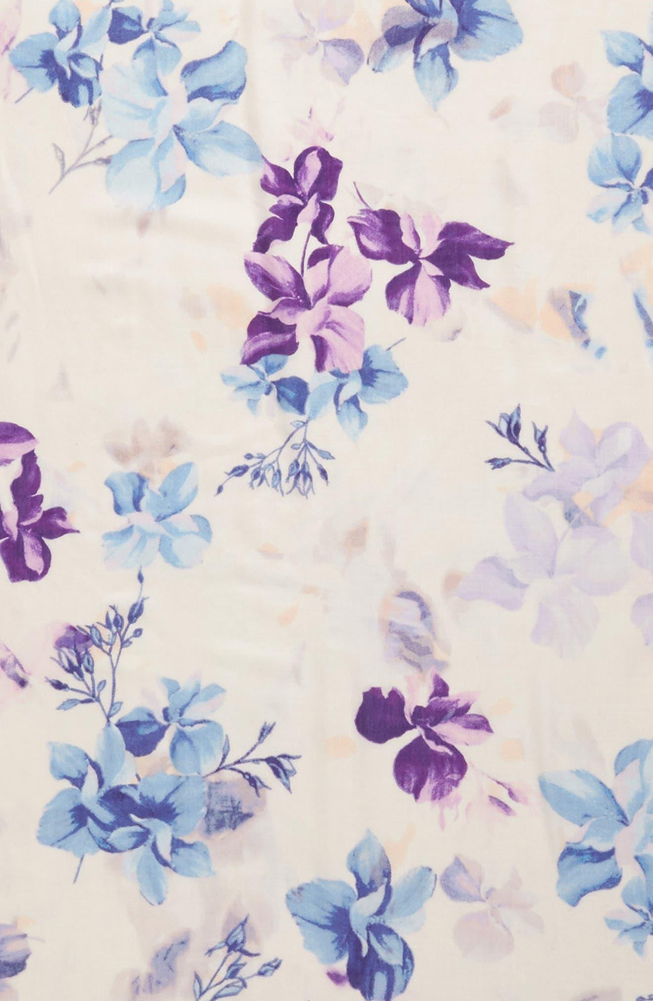 Eyelash Trim Print Cashmere & Silk Wrap,                             Alternate thumbnail 99, color,