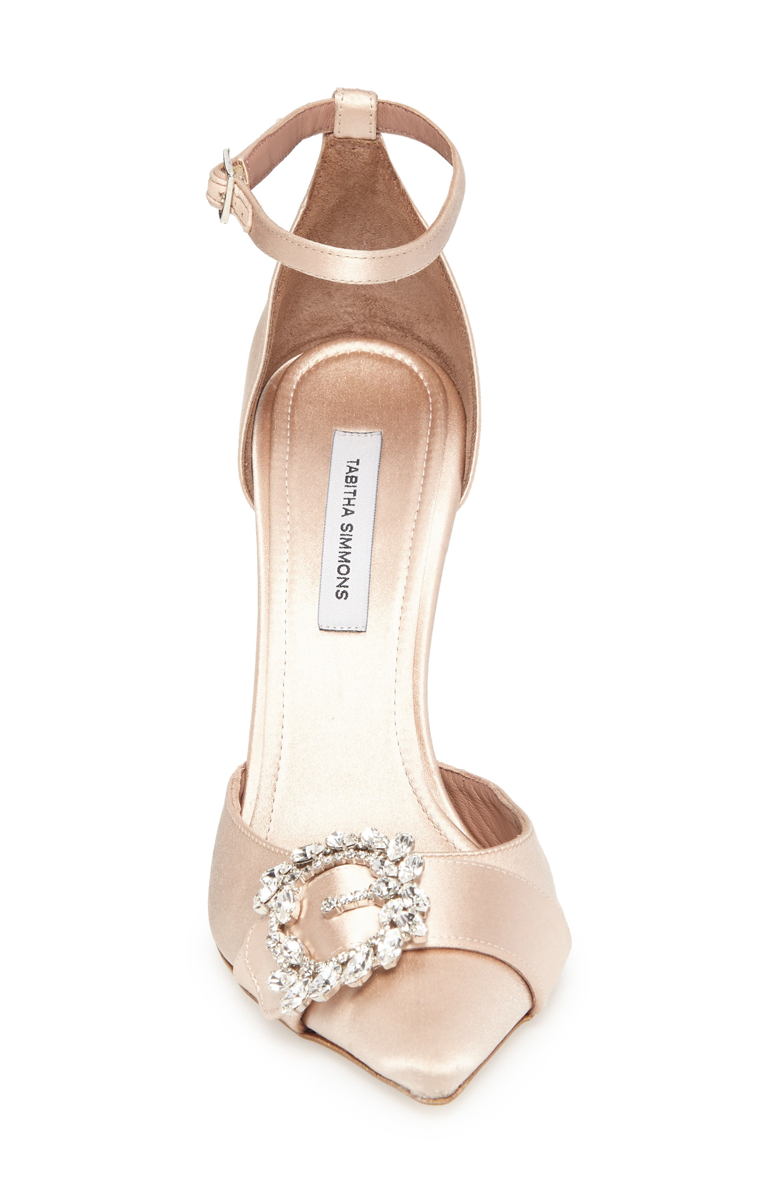 Tie The Knot Crystal Buckle Pump,                             Alternate thumbnail 4, color,                             250