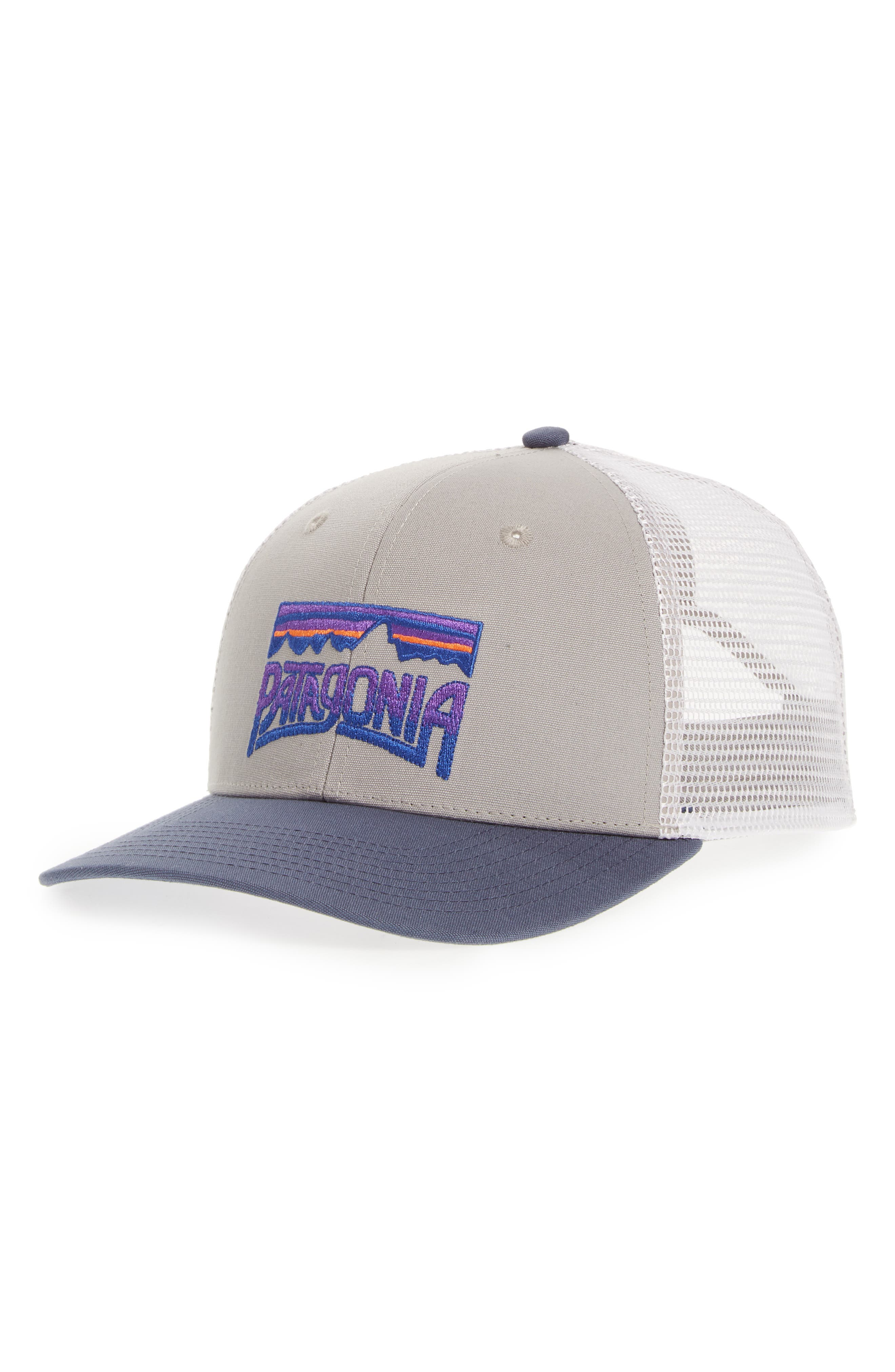 Fitz Roy Frostbite Trucker Cap,                             Main thumbnail 1, color,                             DRIFTER GREY