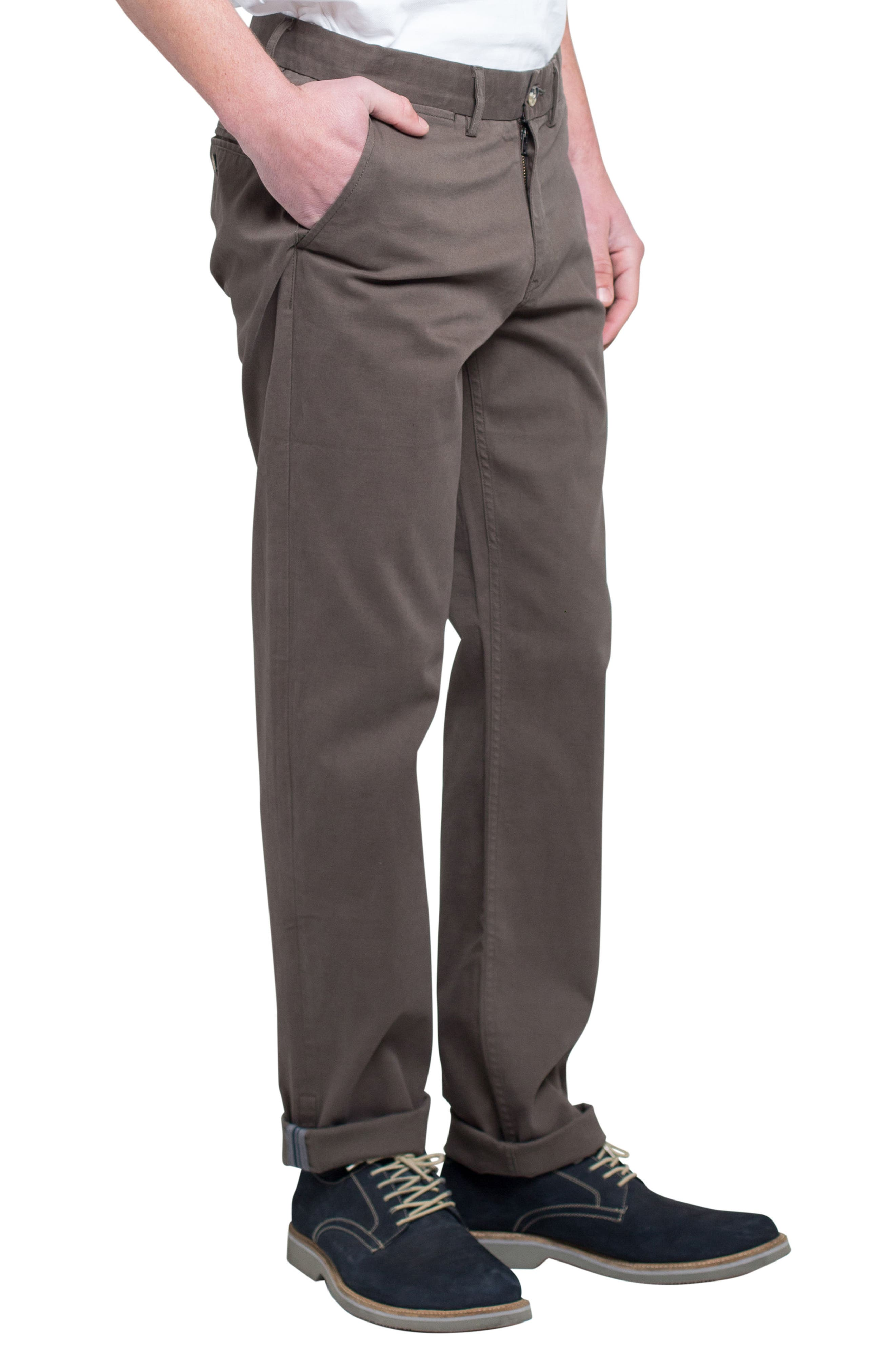 Slim Fit Stretch Chinos,                             Alternate thumbnail 32, color,