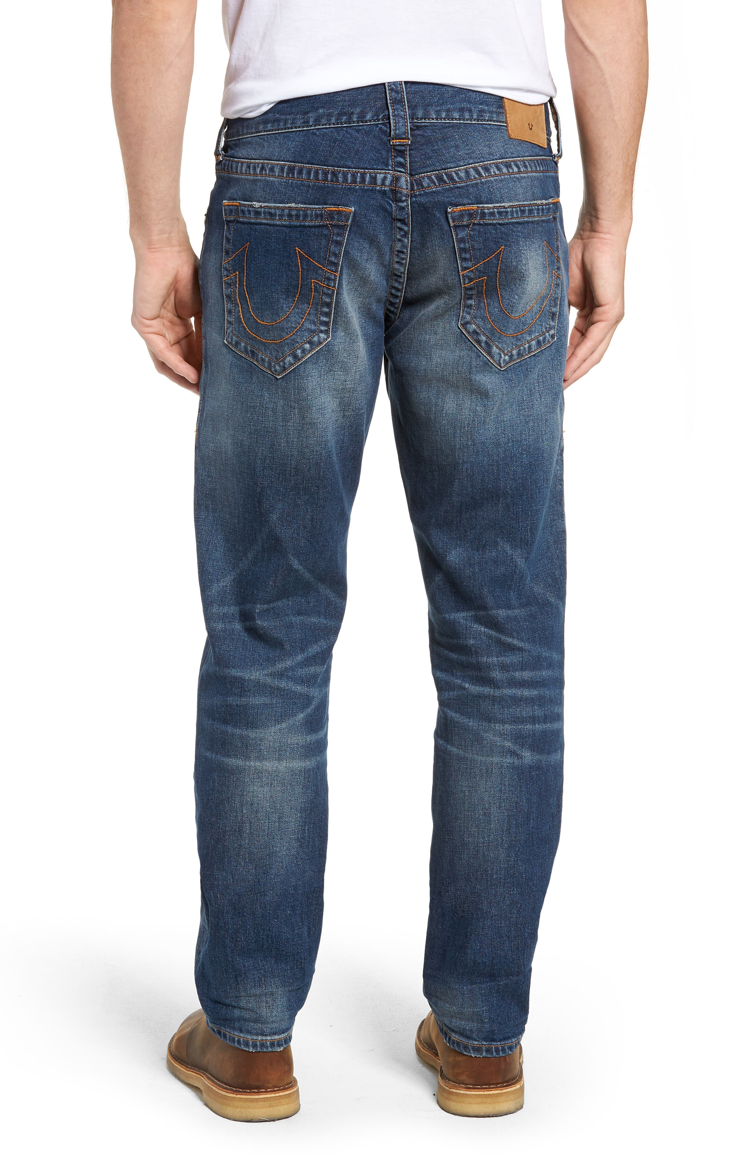 Geno Slim Straight Leg Jeans,                             Alternate thumbnail 2, color,                             JETSET BLUE