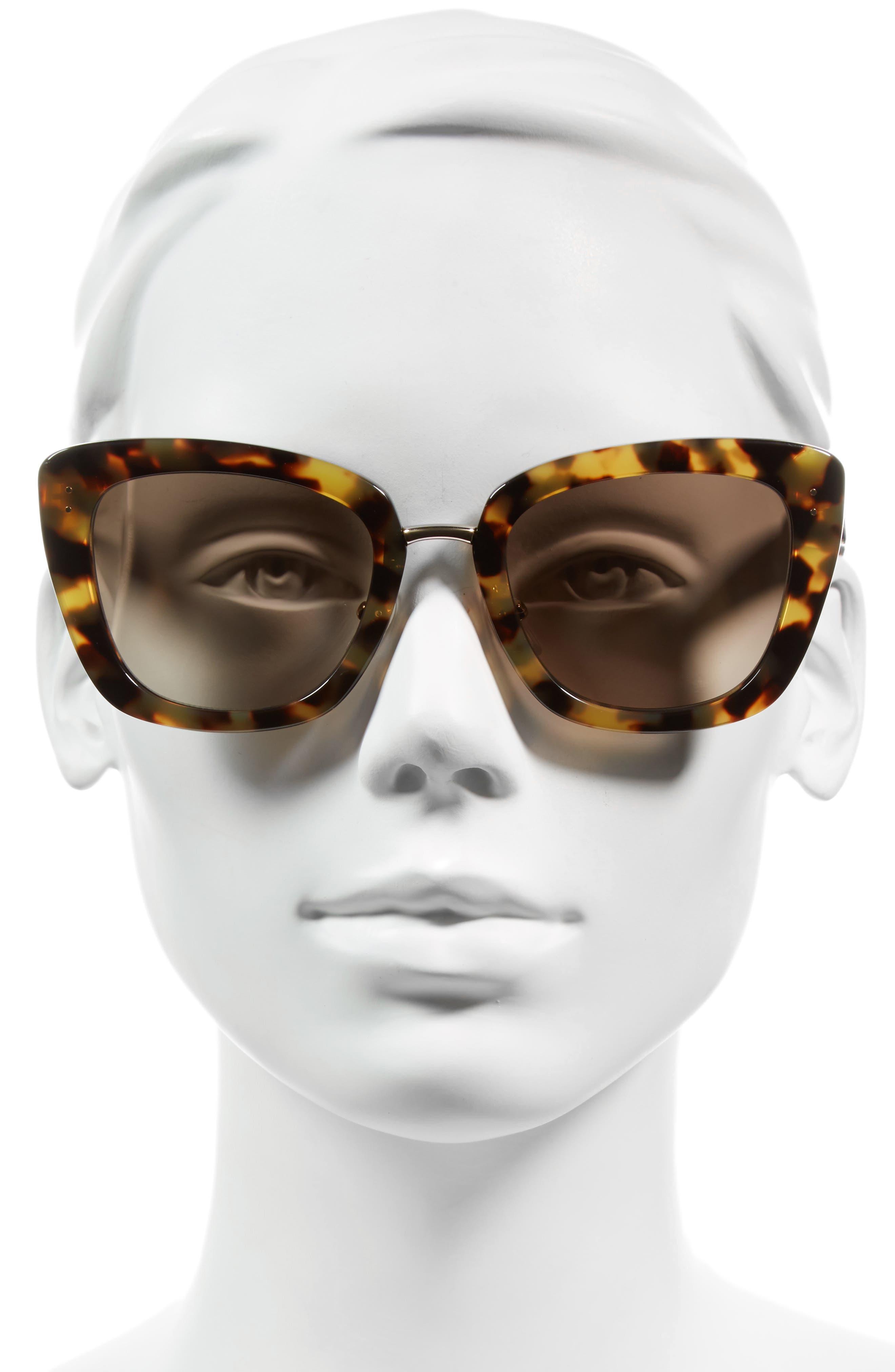 53mm Oversized Sunglasses,                             Alternate thumbnail 5, color,