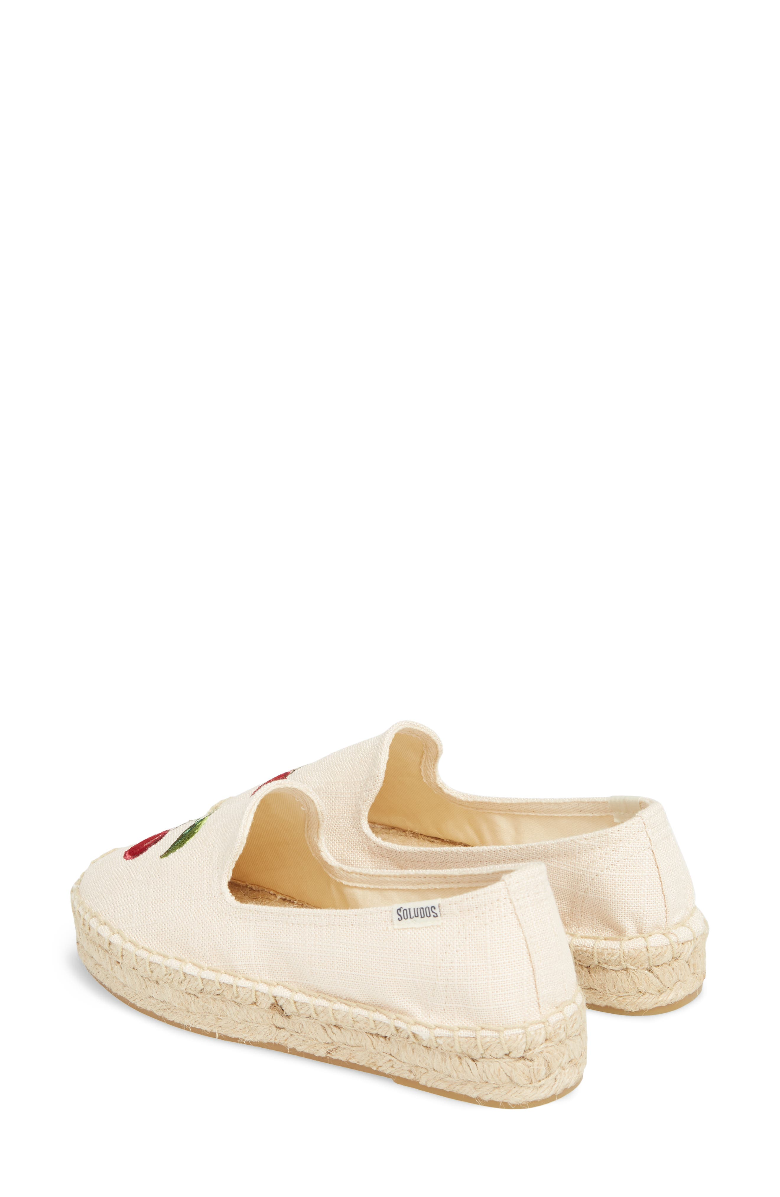 Cherries Embroidered Espadrille,                             Alternate thumbnail 3, color,                             680