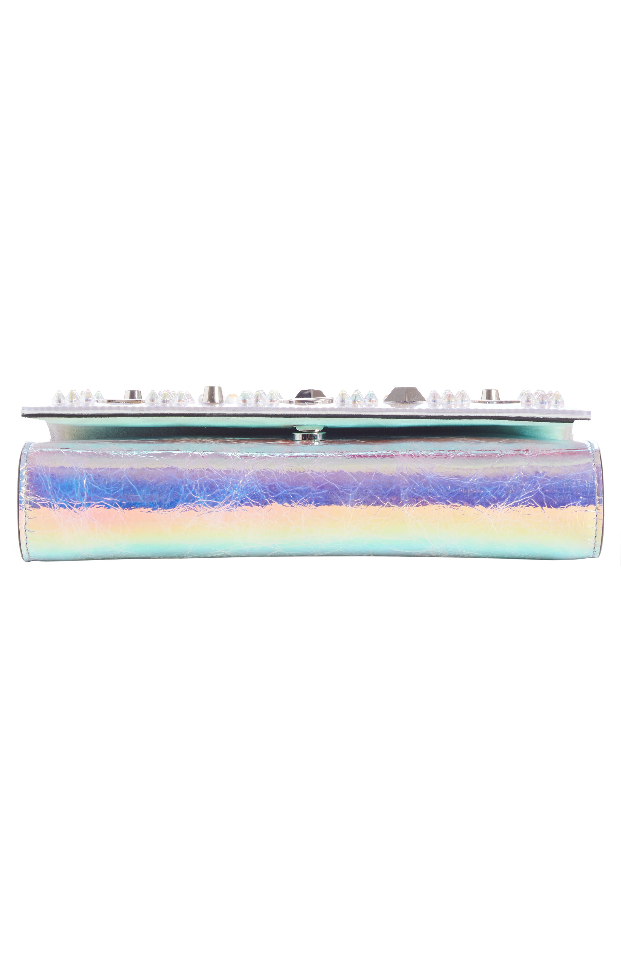 Paloma Loubisky Studded Leather Clutch,                             Alternate thumbnail 4, color,                             MULTI AB