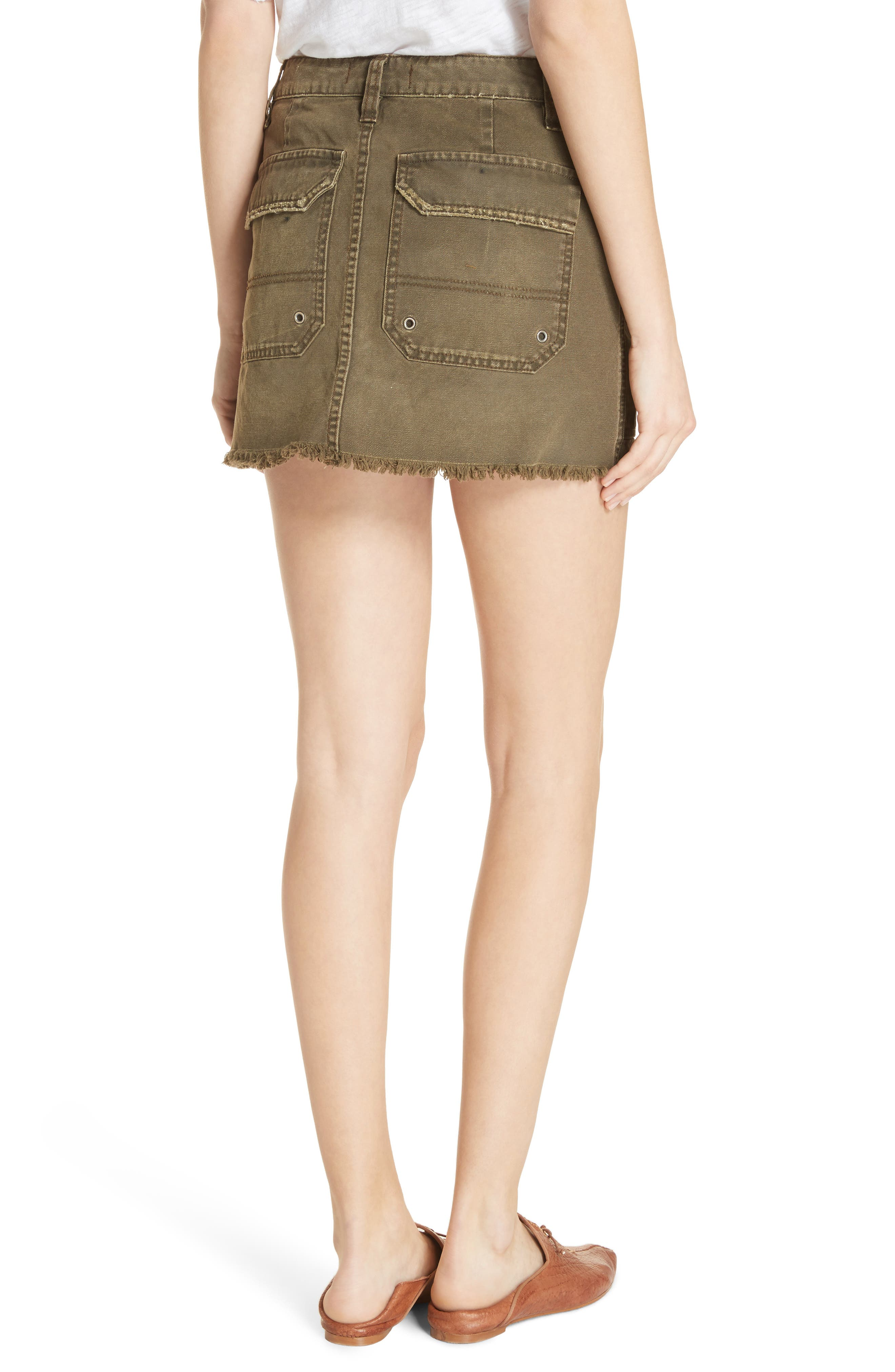 Canvas Miniskirt,                             Alternate thumbnail 5, color,