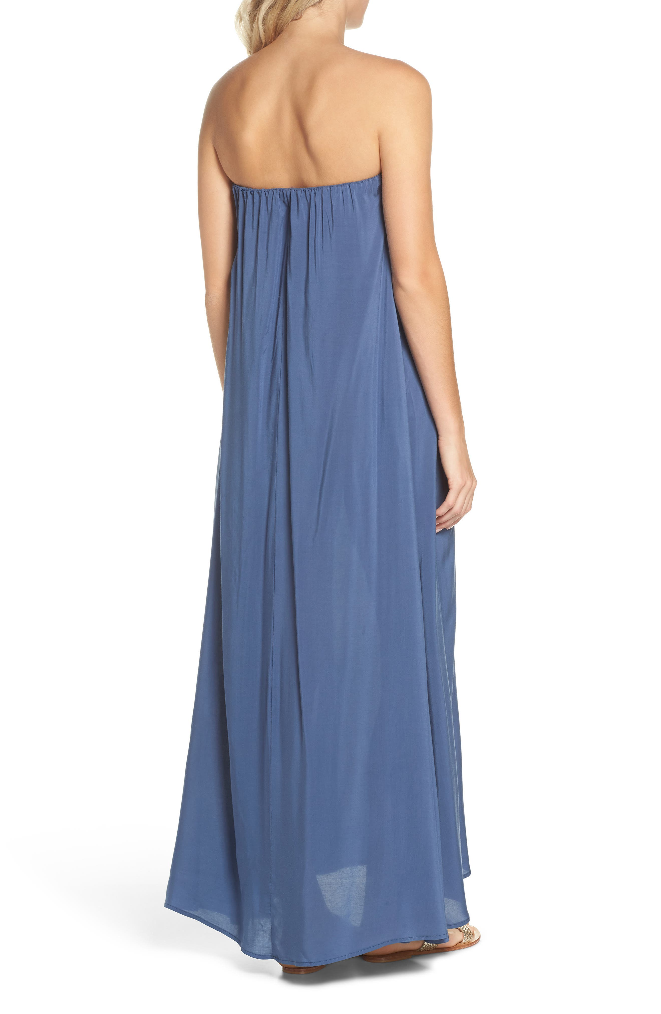 Strapless Keyhole Cover-Up Maxi Dress,                             Alternate thumbnail 2, color,                             462