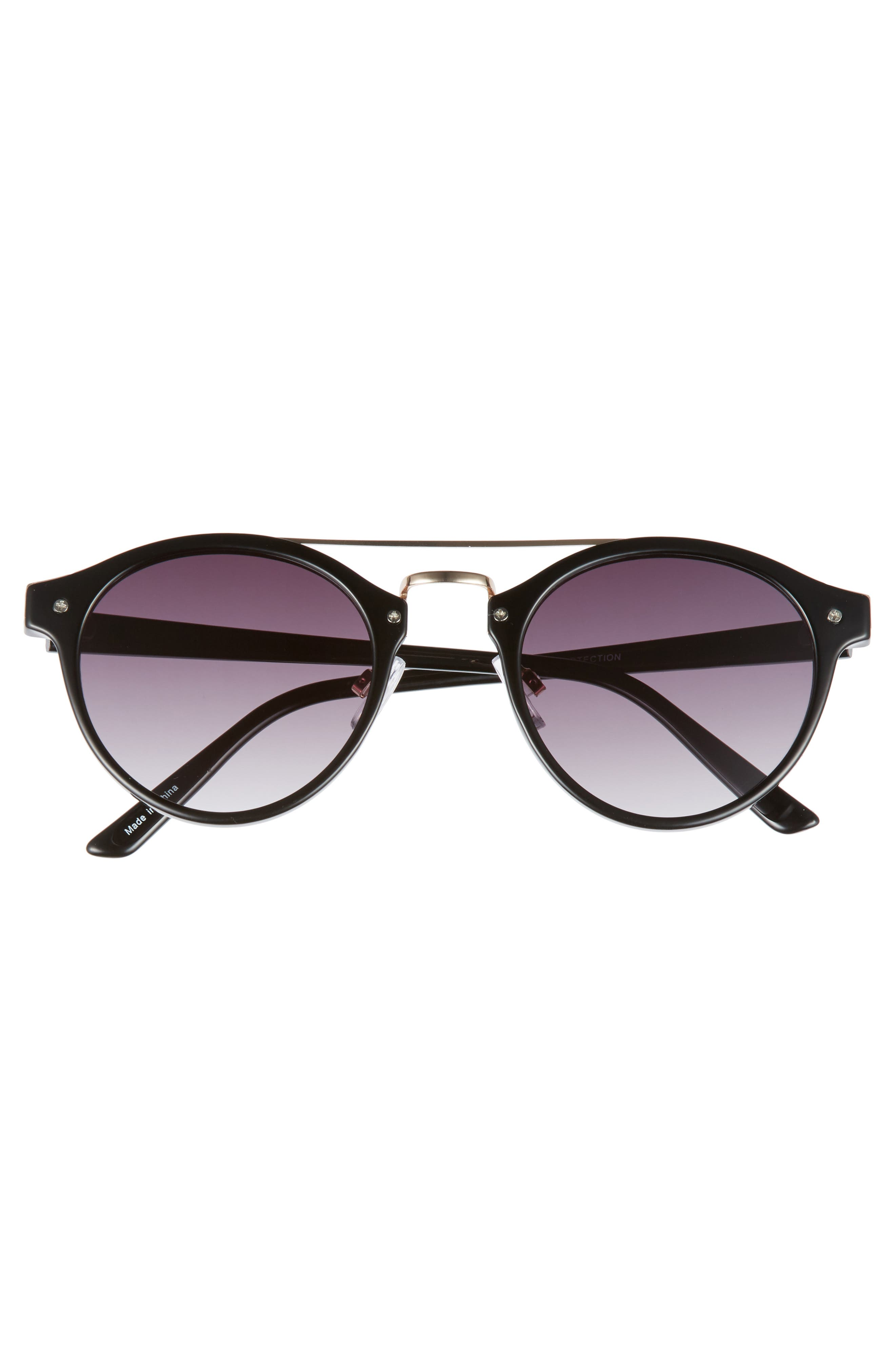 45mm Round Sunglasses,                             Alternate thumbnail 3, color,                             001