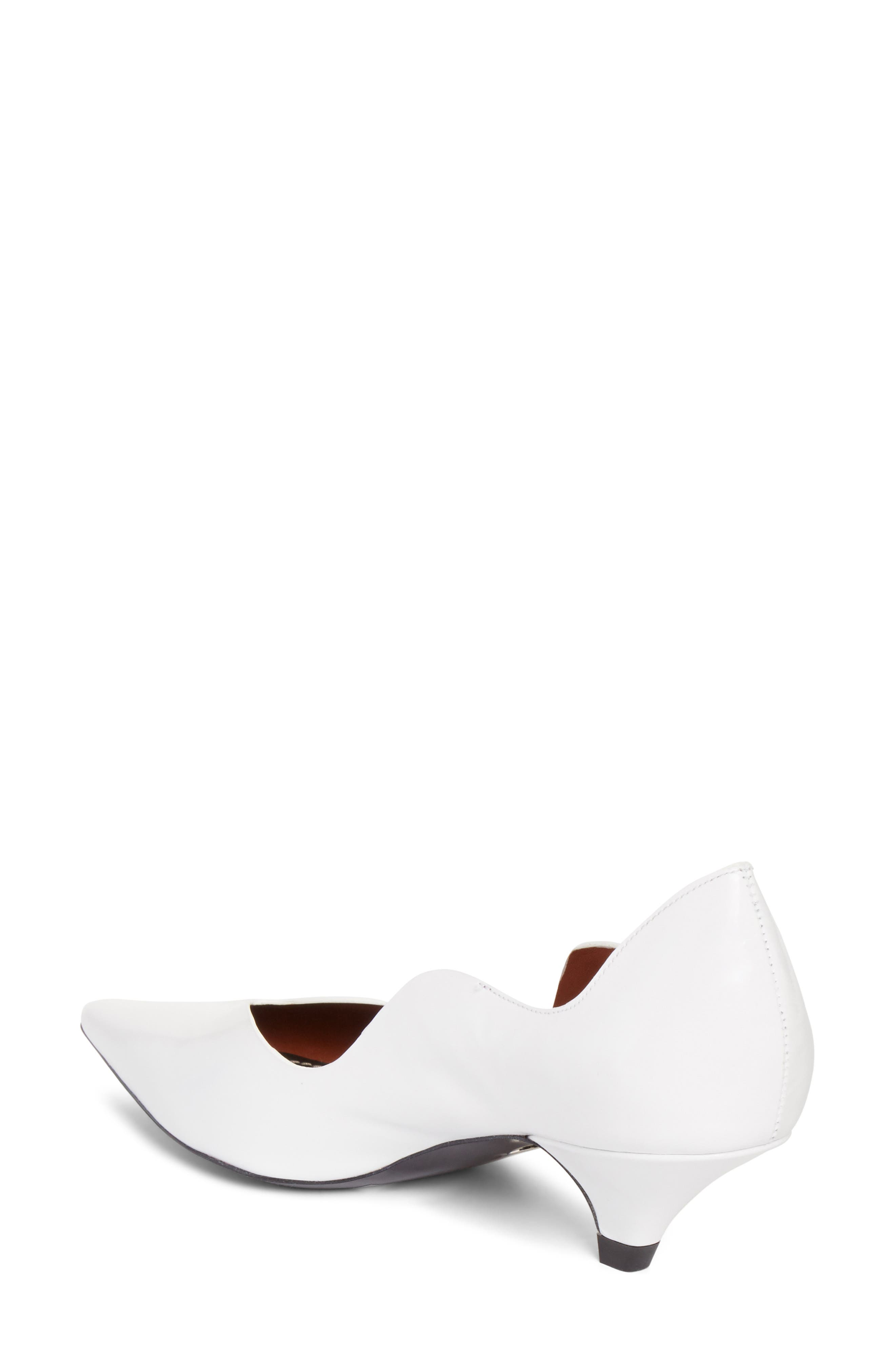 Wave Pointy Toe Pump,                             Alternate thumbnail 2, color,                             WHITE