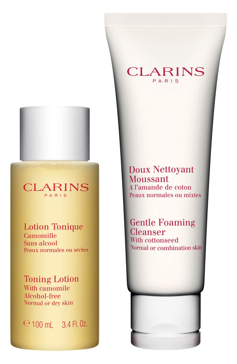 Clarins CLEANSING ESSENTIALS FOR NORMAL TO COMBINATION SKIN