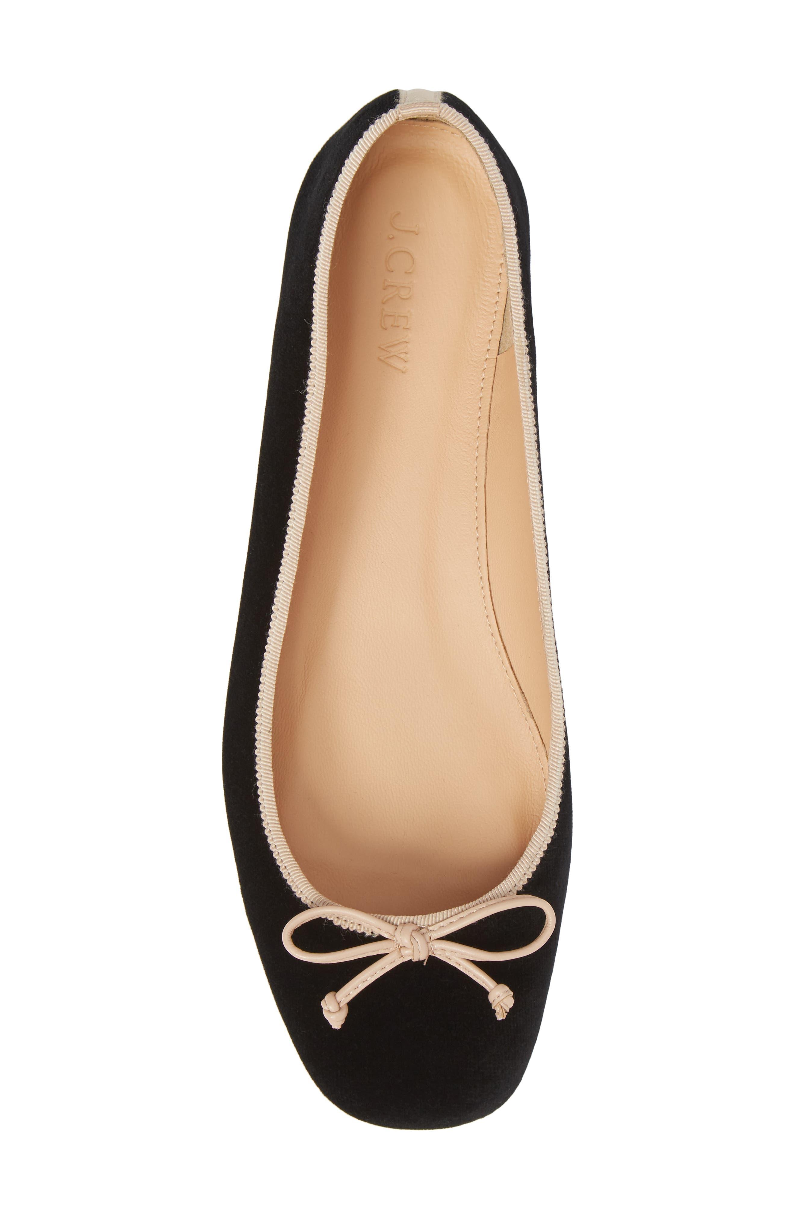 Lily Velvet Ballet Flat,                             Alternate thumbnail 5, color,                             001