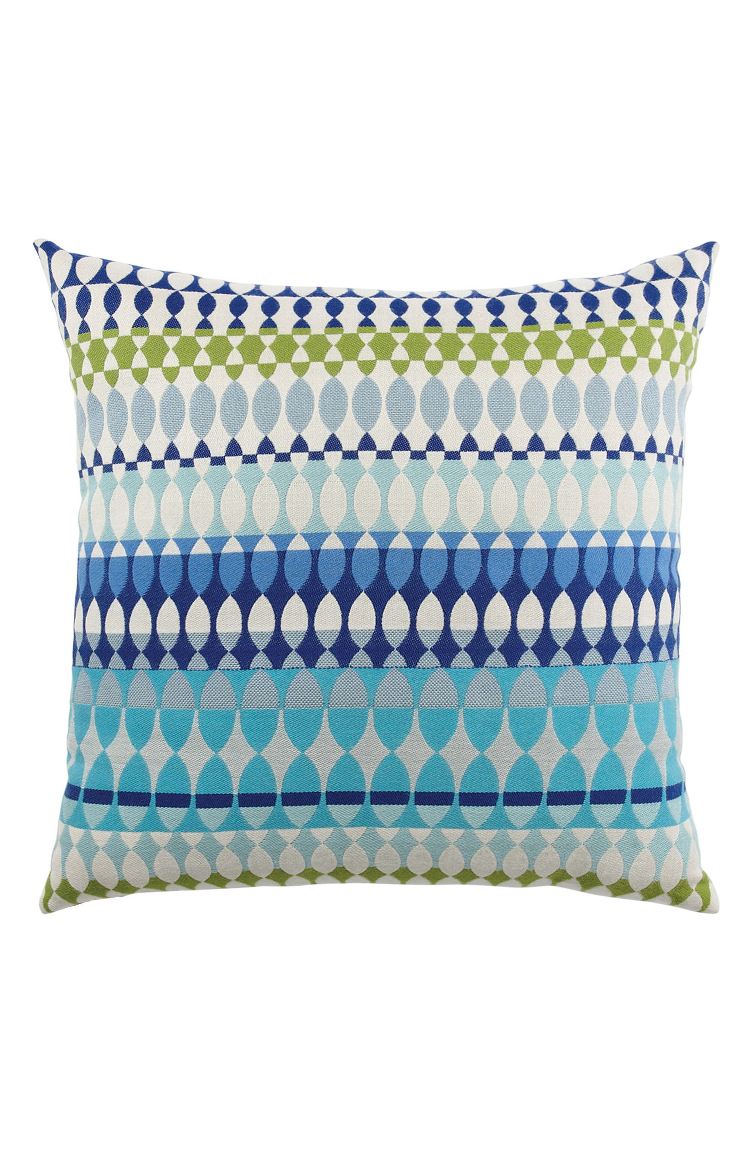 Modern Oval Ocean Indoor/Outdoor Accent Pillow,                         Main,                         color, BLUE MULTI