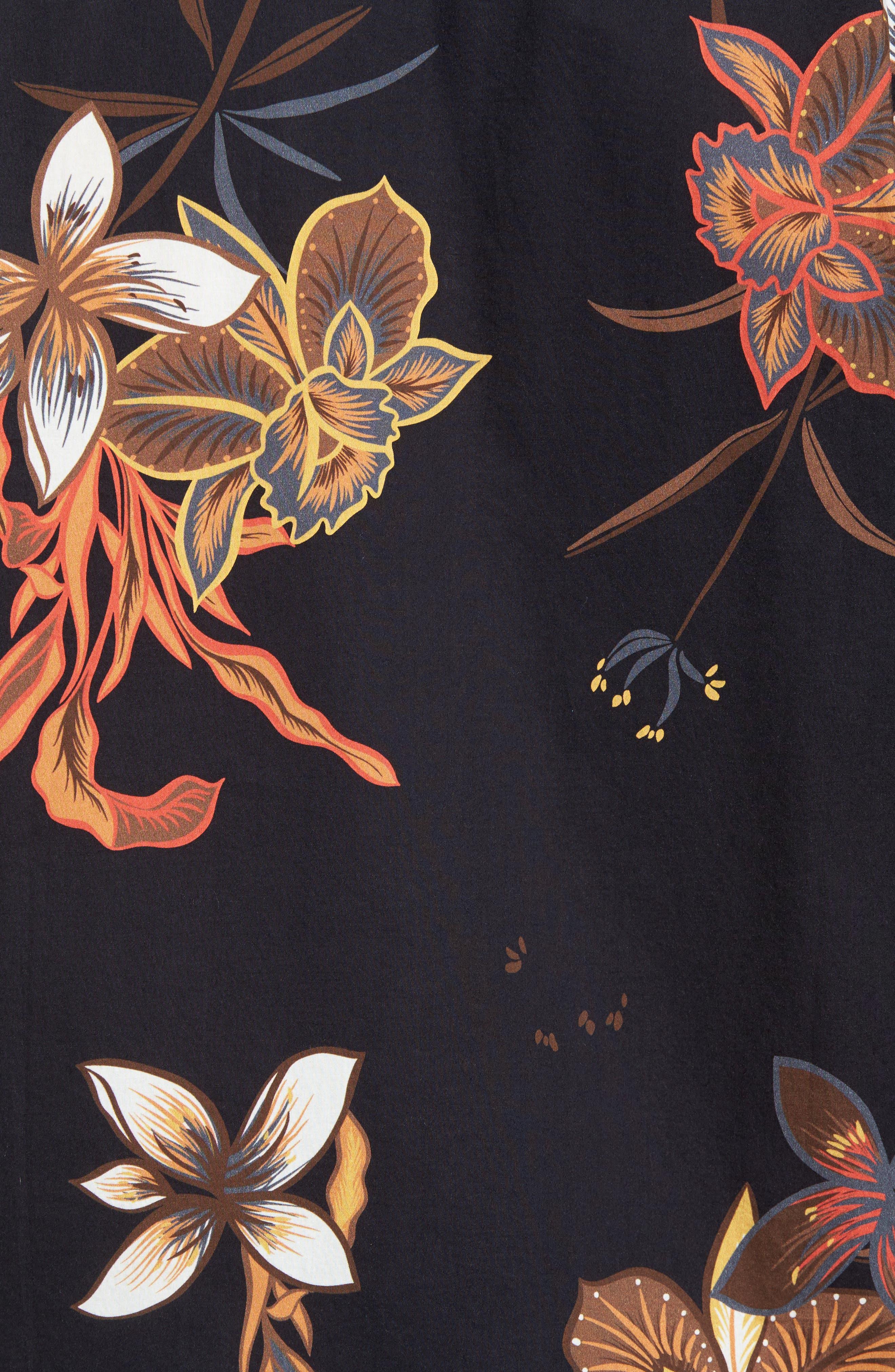 Sunday Floral Woven Shirt,                             Alternate thumbnail 5, color,                             001